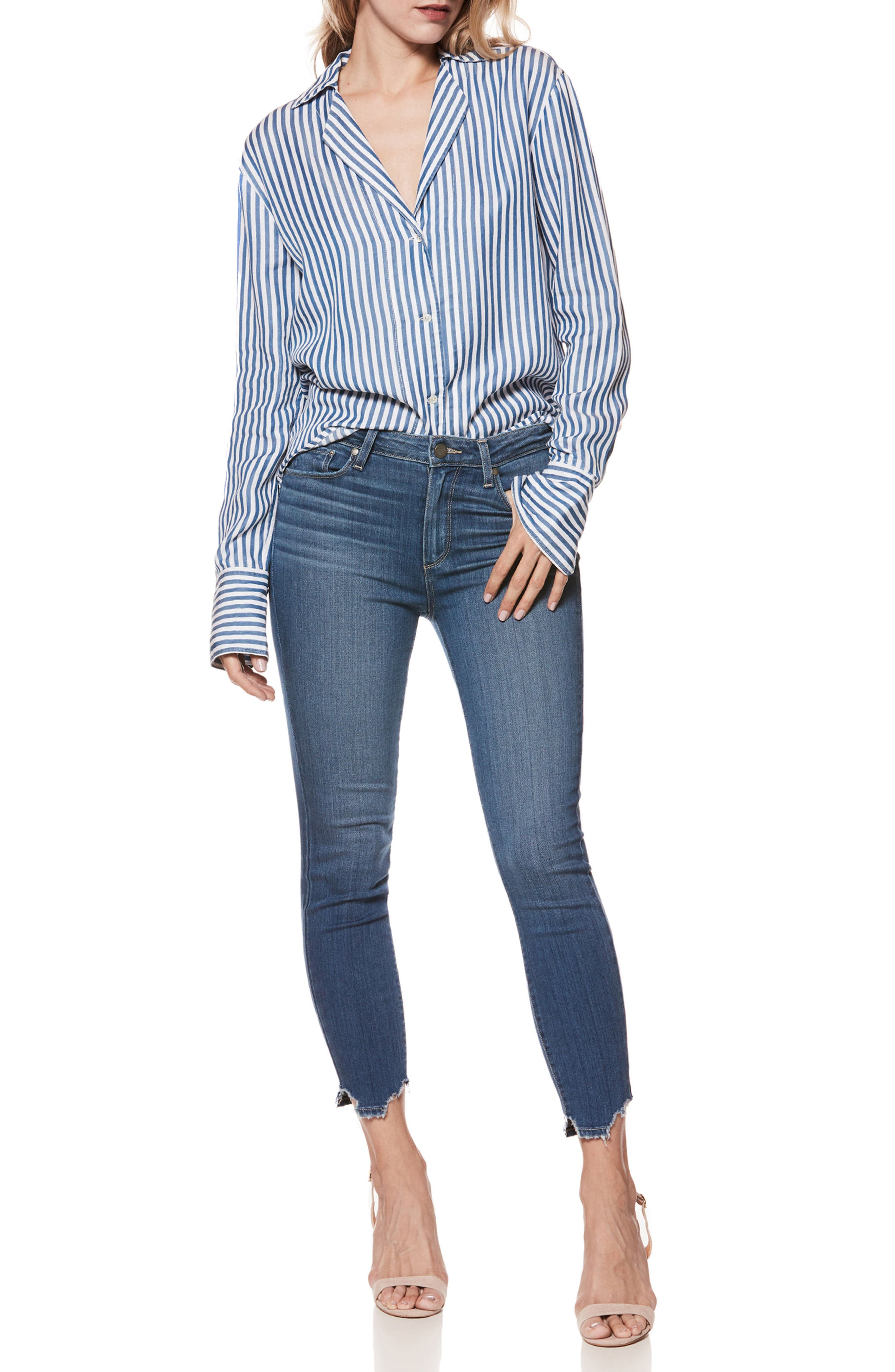 Transcend - Hoxton High Waist Crop Skinny Jeans,                             Alternate thumbnail 2, color,                             Lived In Henderson