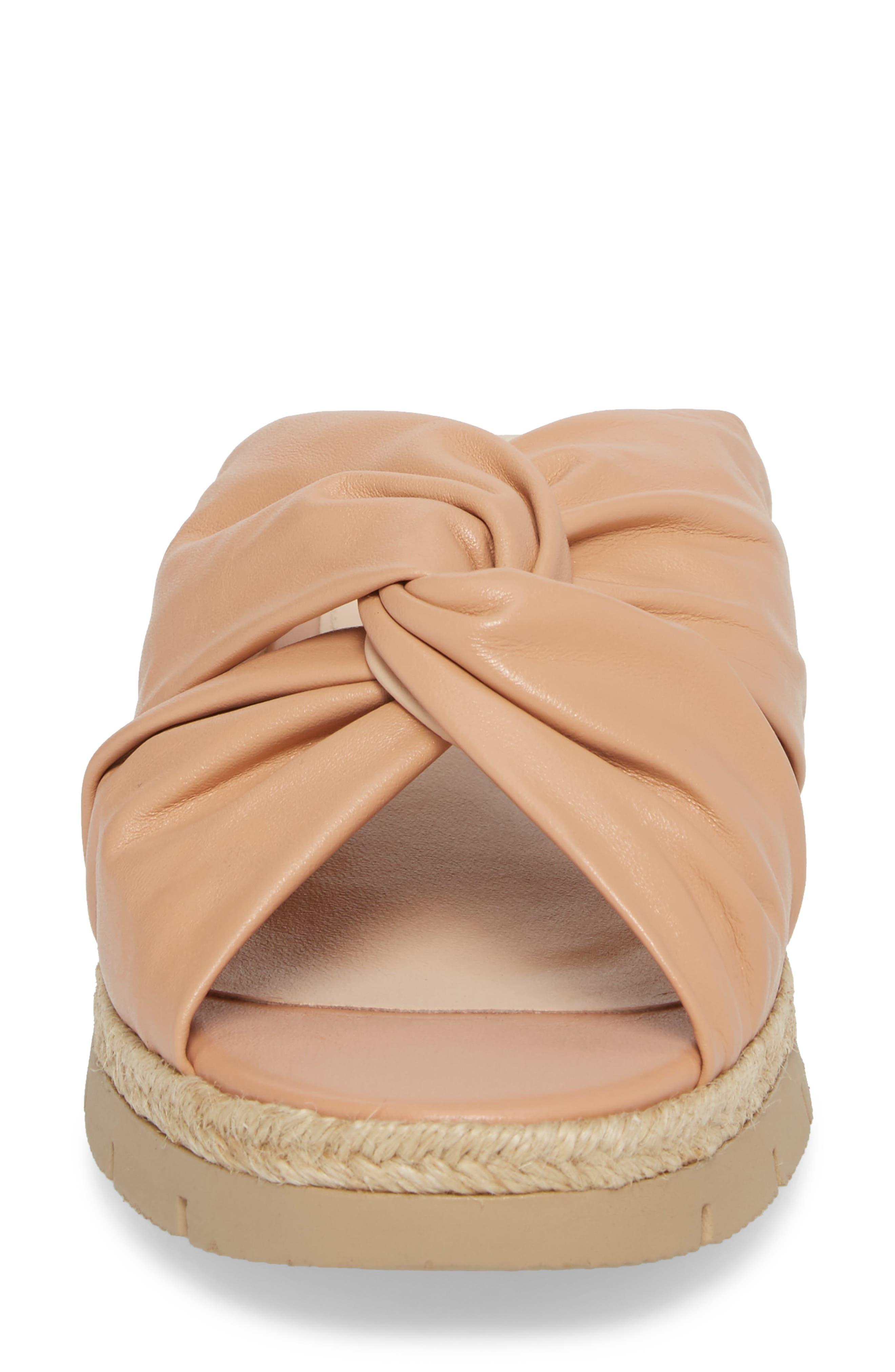 Charlie Slide Sandal,                             Alternate thumbnail 4, color,                             Peach Leather