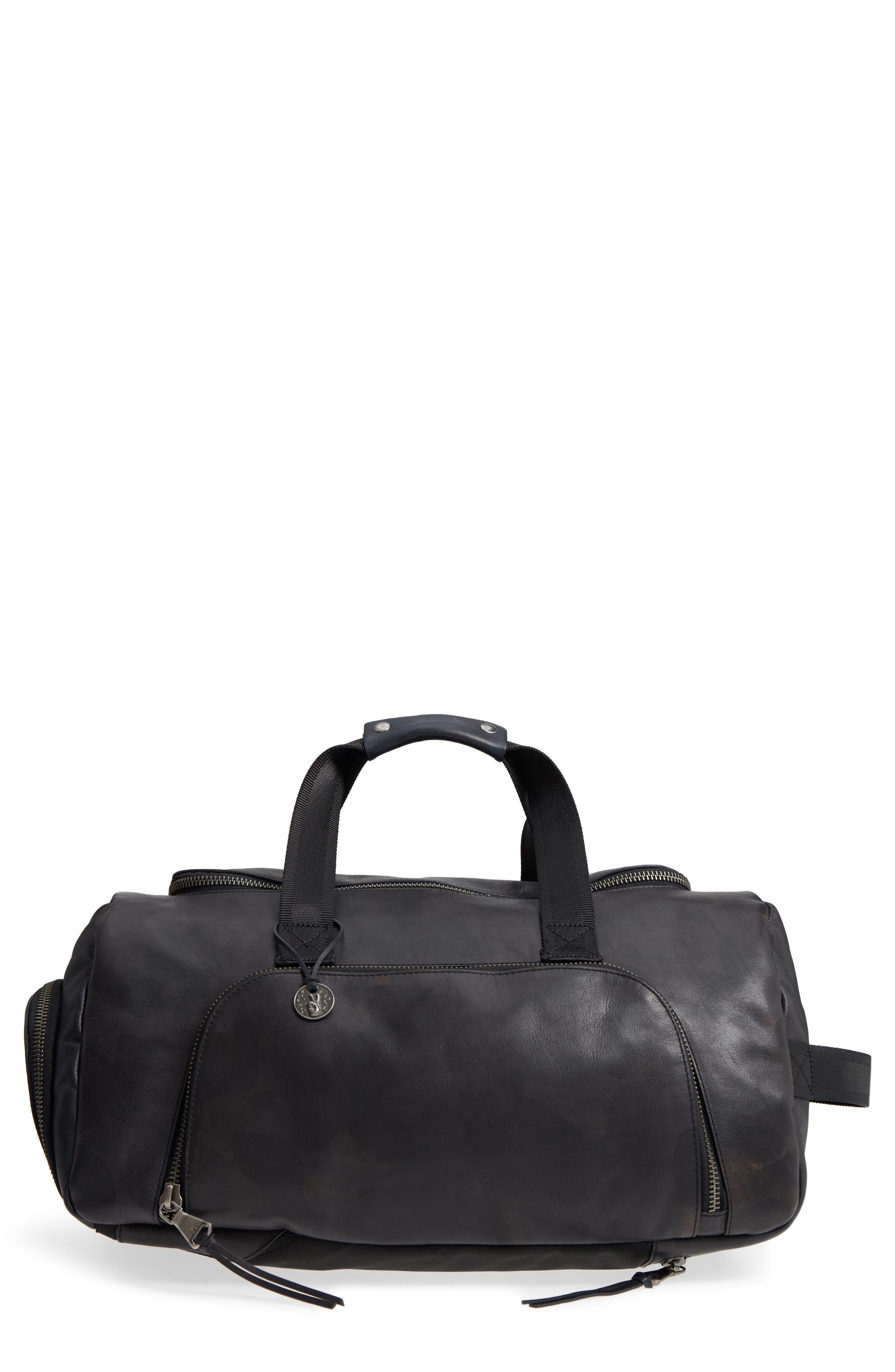 John Varvatos Star USA Brooklyn Suede Convertible Duffel Bag