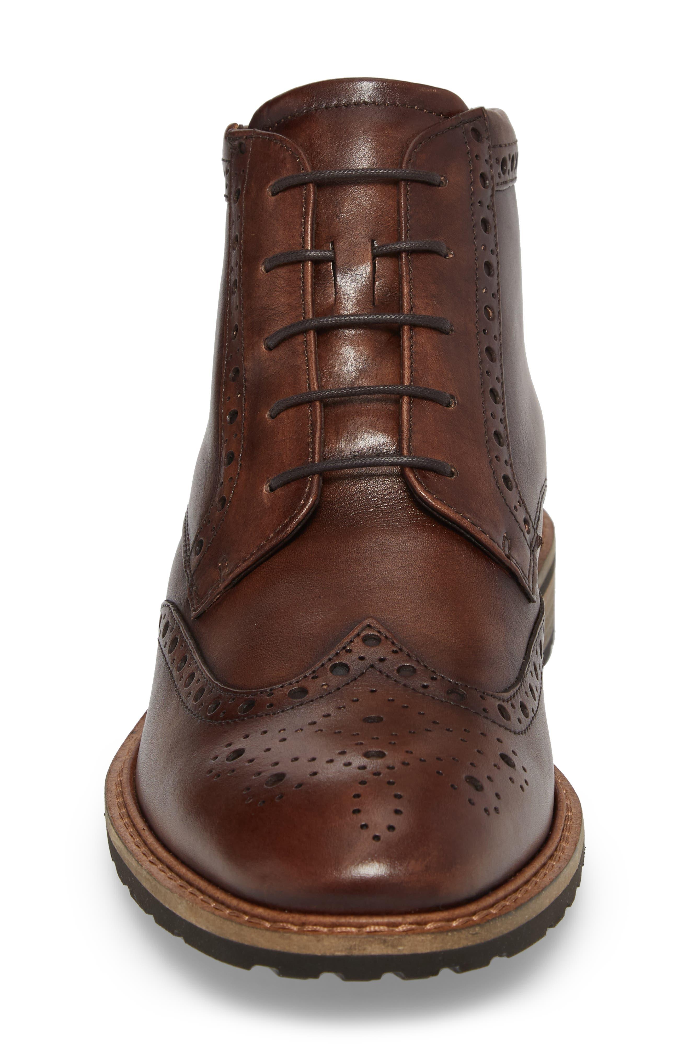 Vitrus I Wingtip Boot,                             Alternate thumbnail 4, color,                             Nature Leather