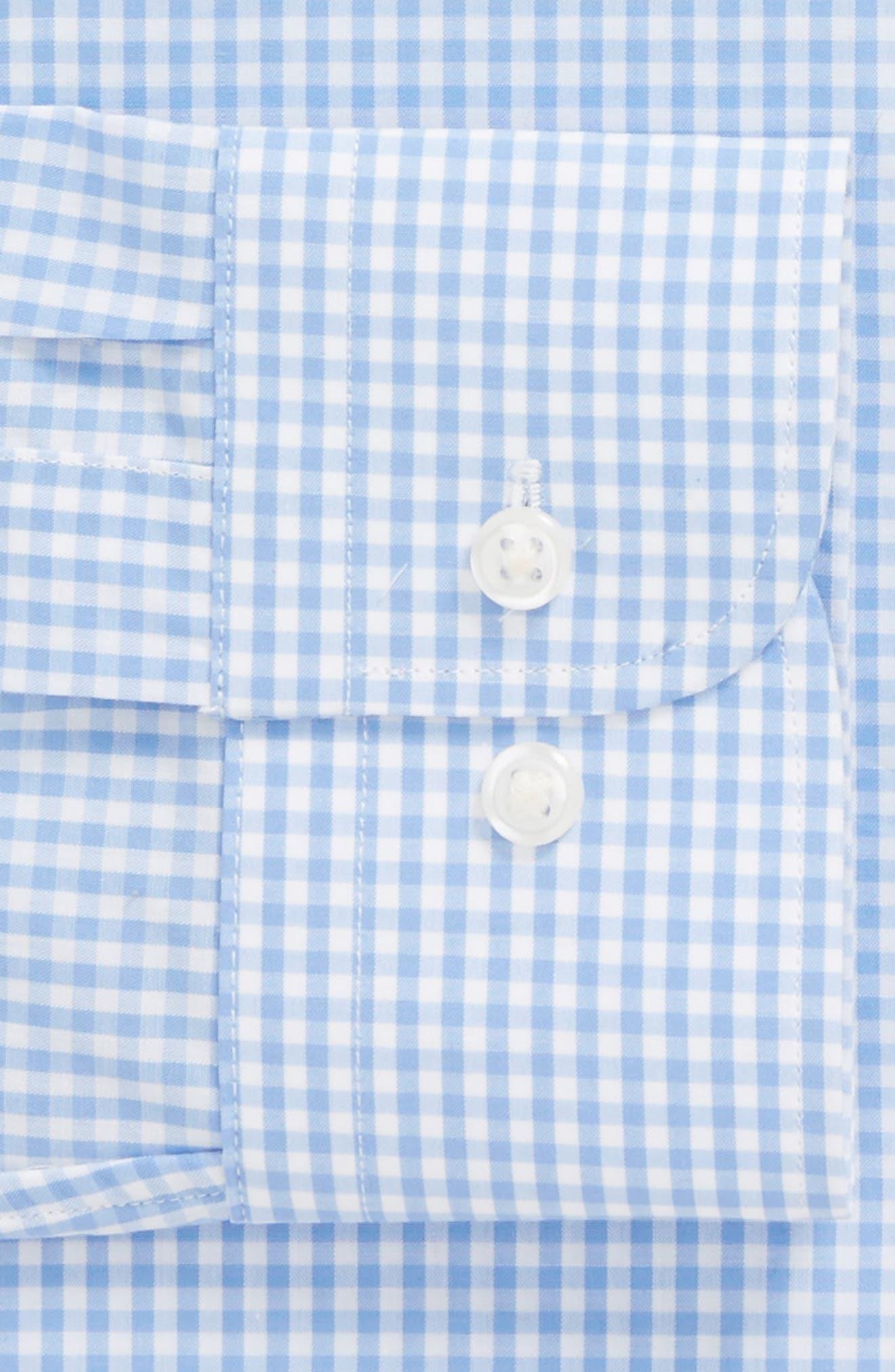 Trim Fit Check Dress Shirt,                             Alternate thumbnail 5, color,                             Blue Cornflower