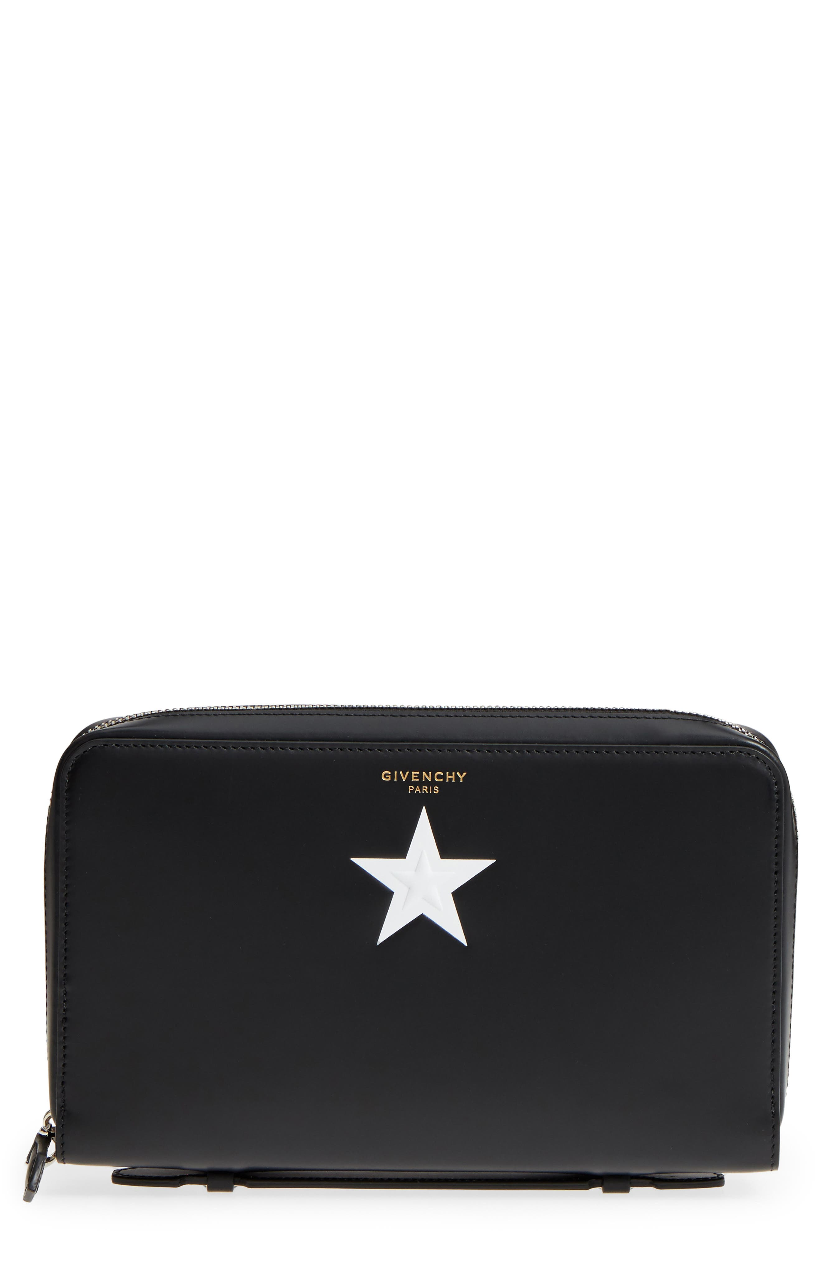 Givenchy Star Leather Zip Pouch