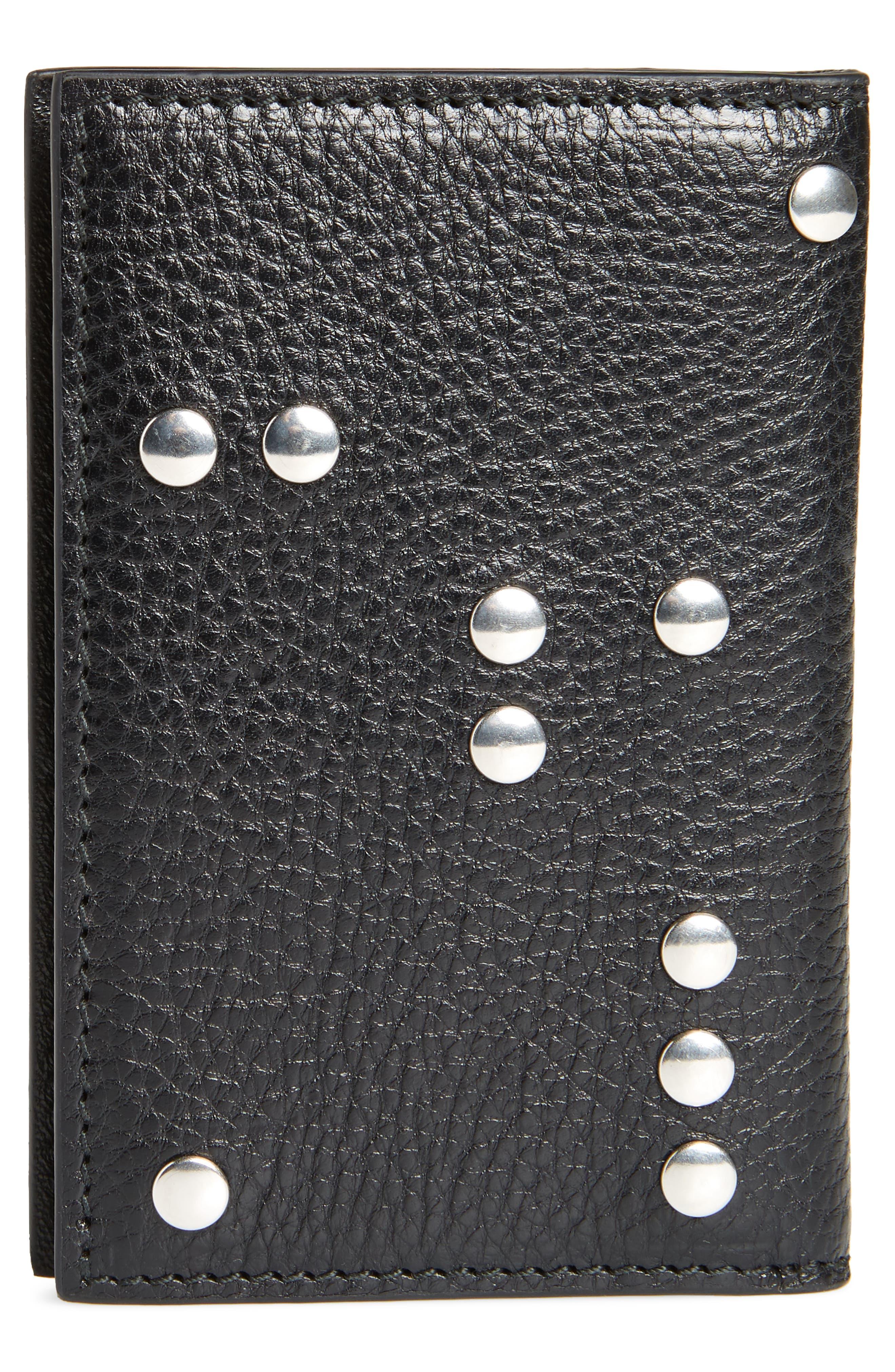 Alternate Image 3  - Alexander McQueen Studded Leather Card Holder