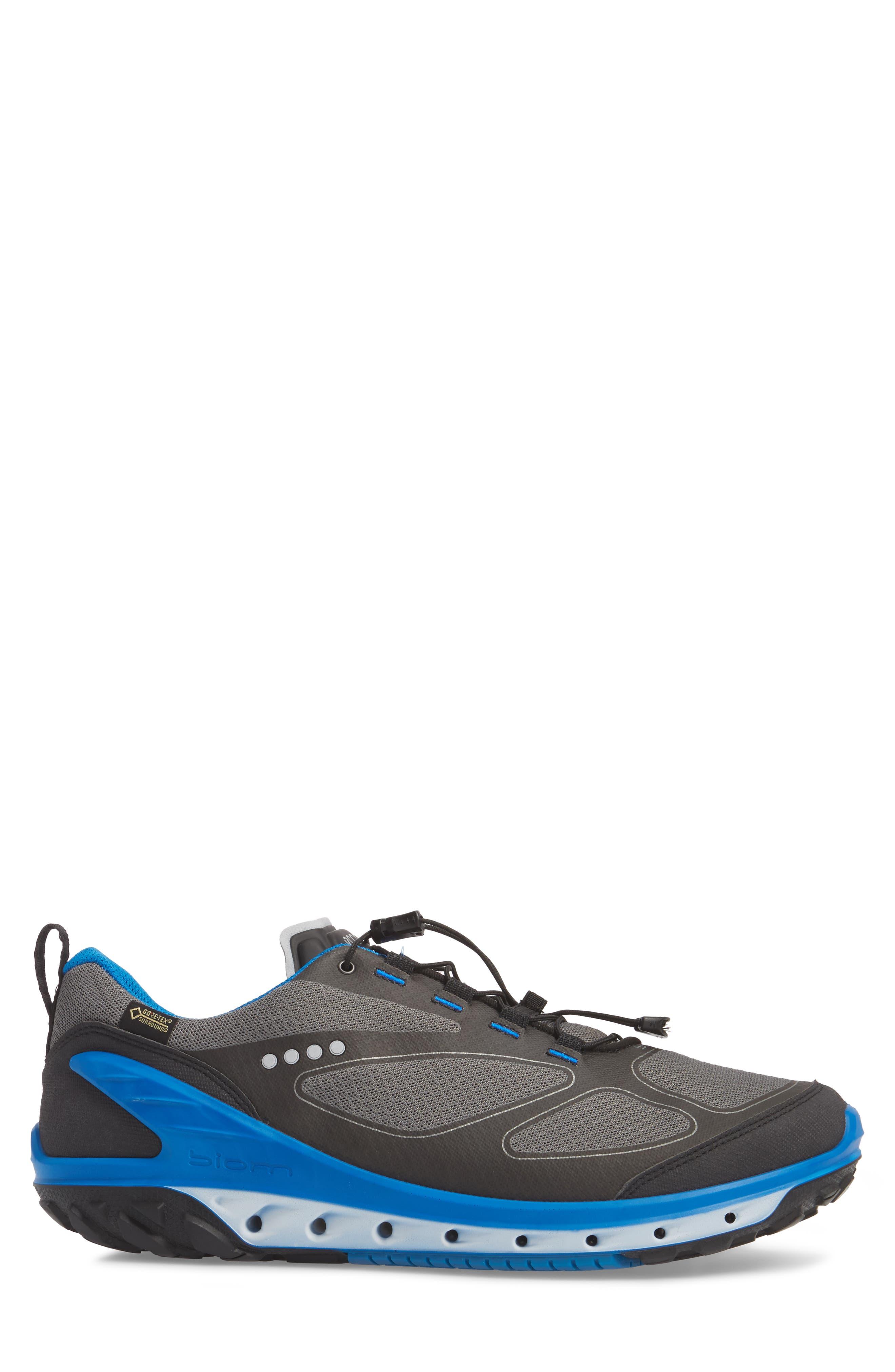 BIOM Venture GTX Sneaker,                             Alternate thumbnail 3, color,                             Black/ Titanium Leather