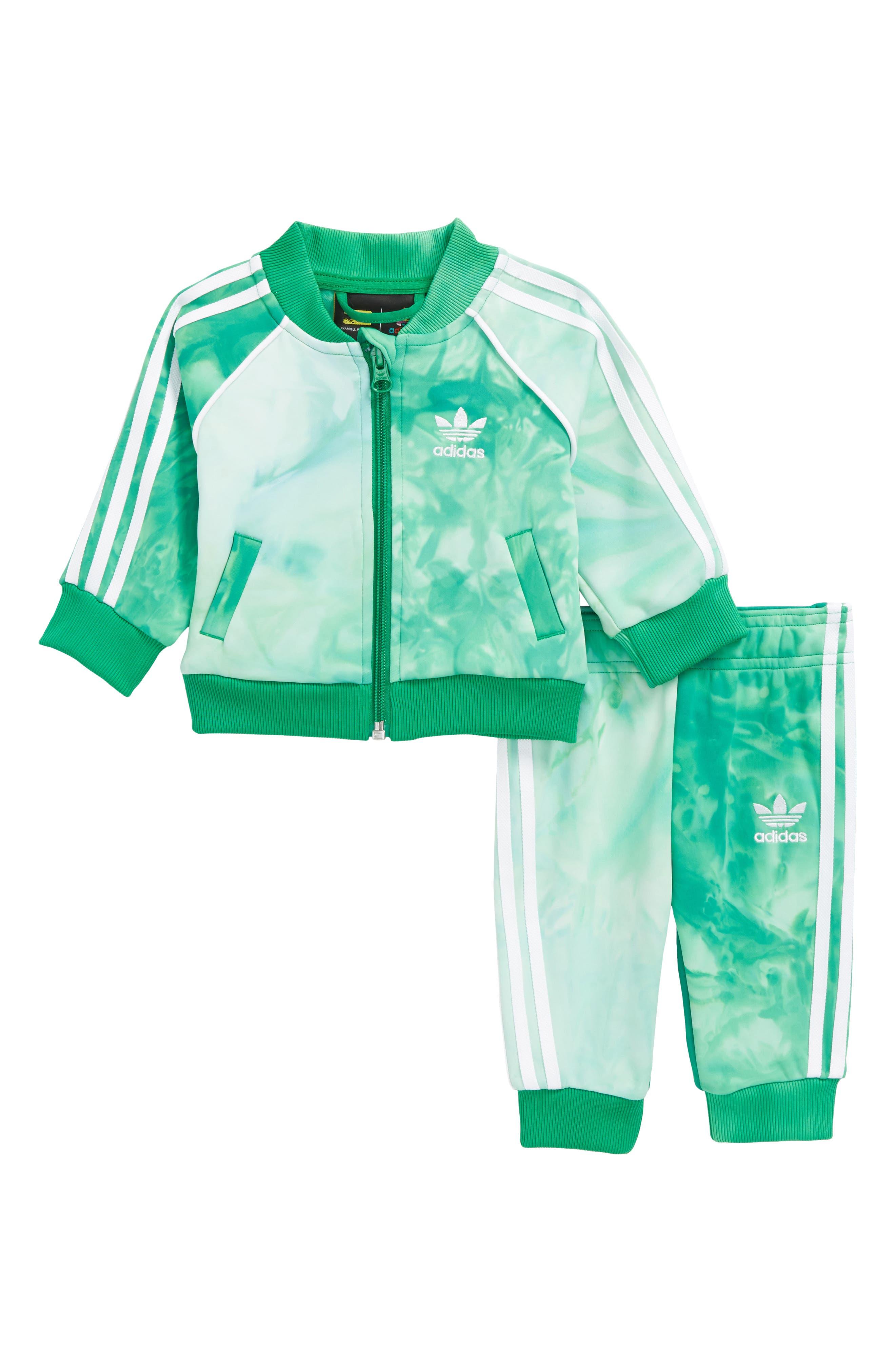 Hu Holi Track Jacket & Sweatpants Set,                         Main,                         color, Green/ White