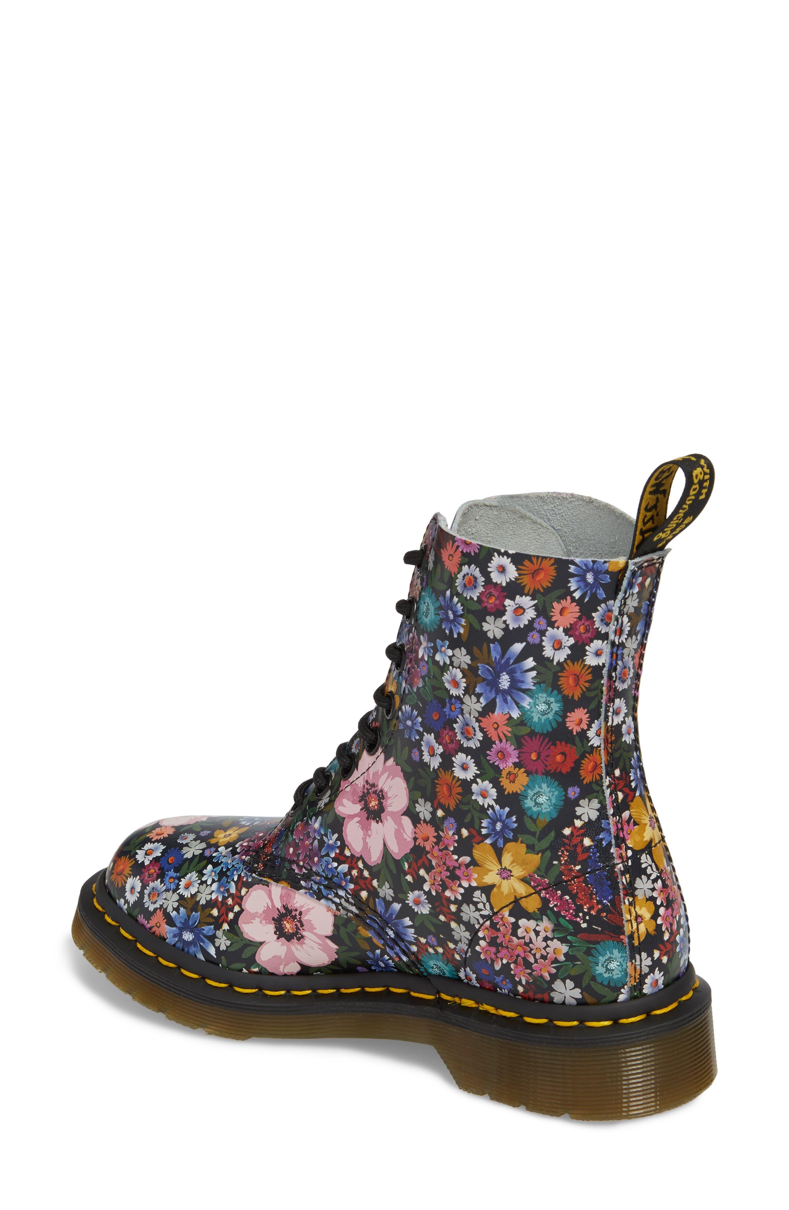 Pascal Wanderlust Boot,                             Alternate thumbnail 2, color,                             Black Floral Leather