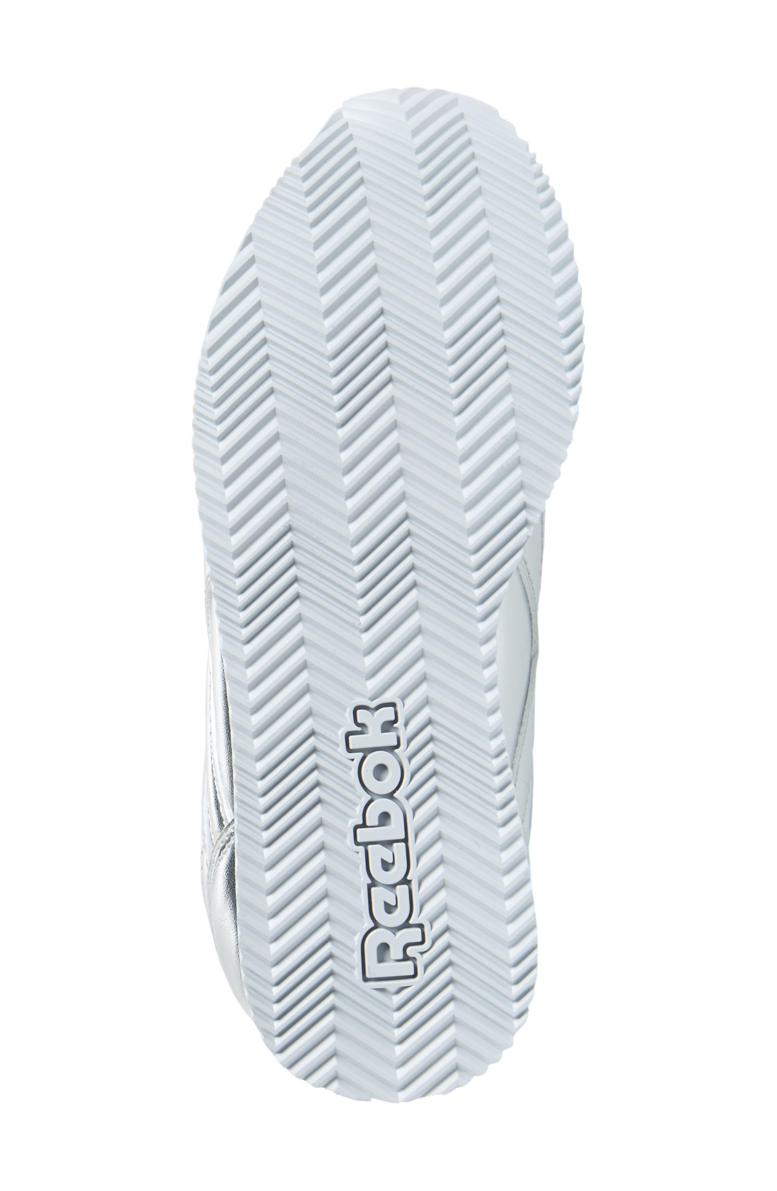 Royal Classic Jogger 2.0 Sneaker,                             Alternate thumbnail 6, color,                             Silver Metallic/ White