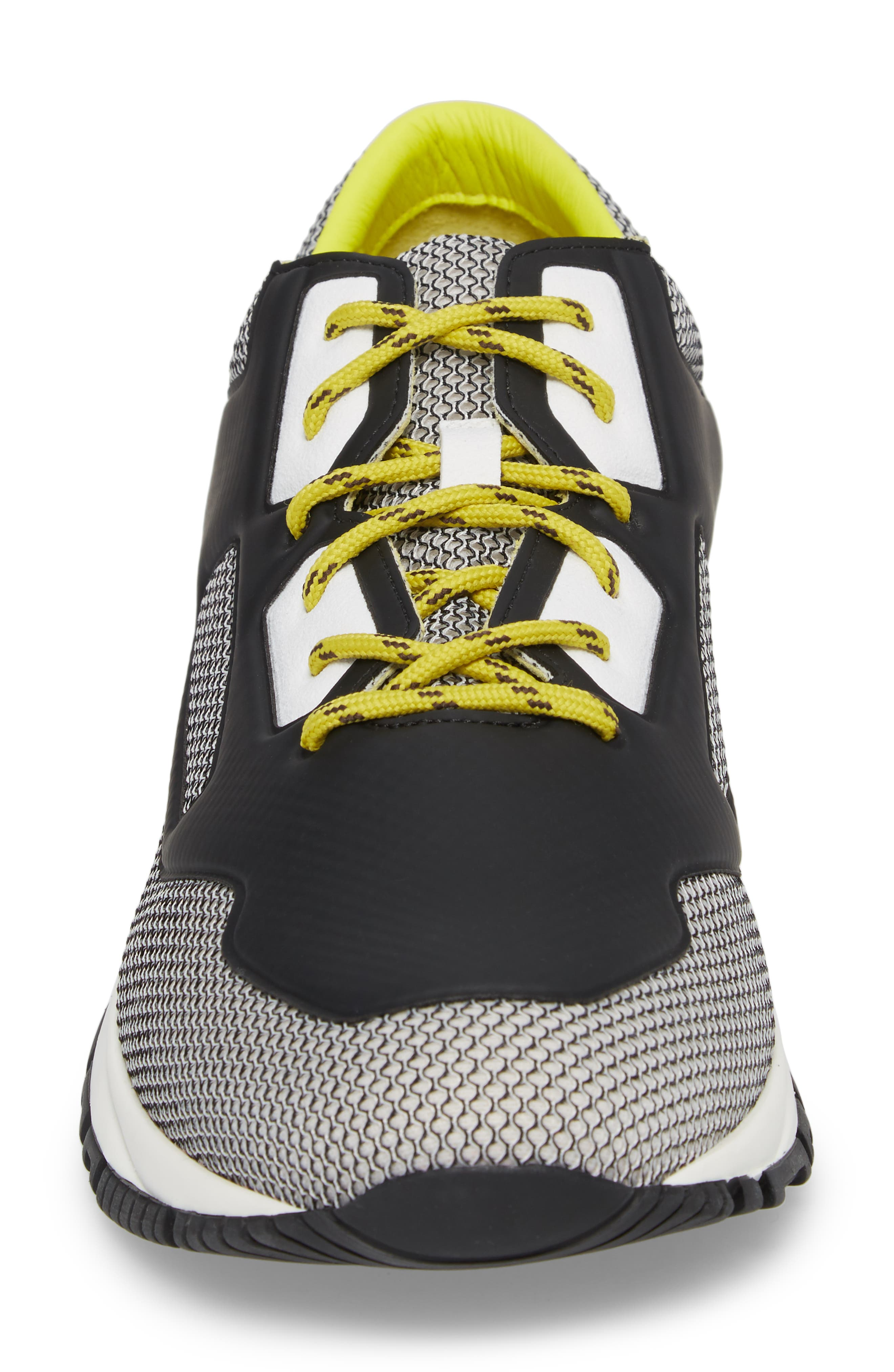 High Frequency Mesh Running Shoe,                             Alternate thumbnail 4, color,                             Grey