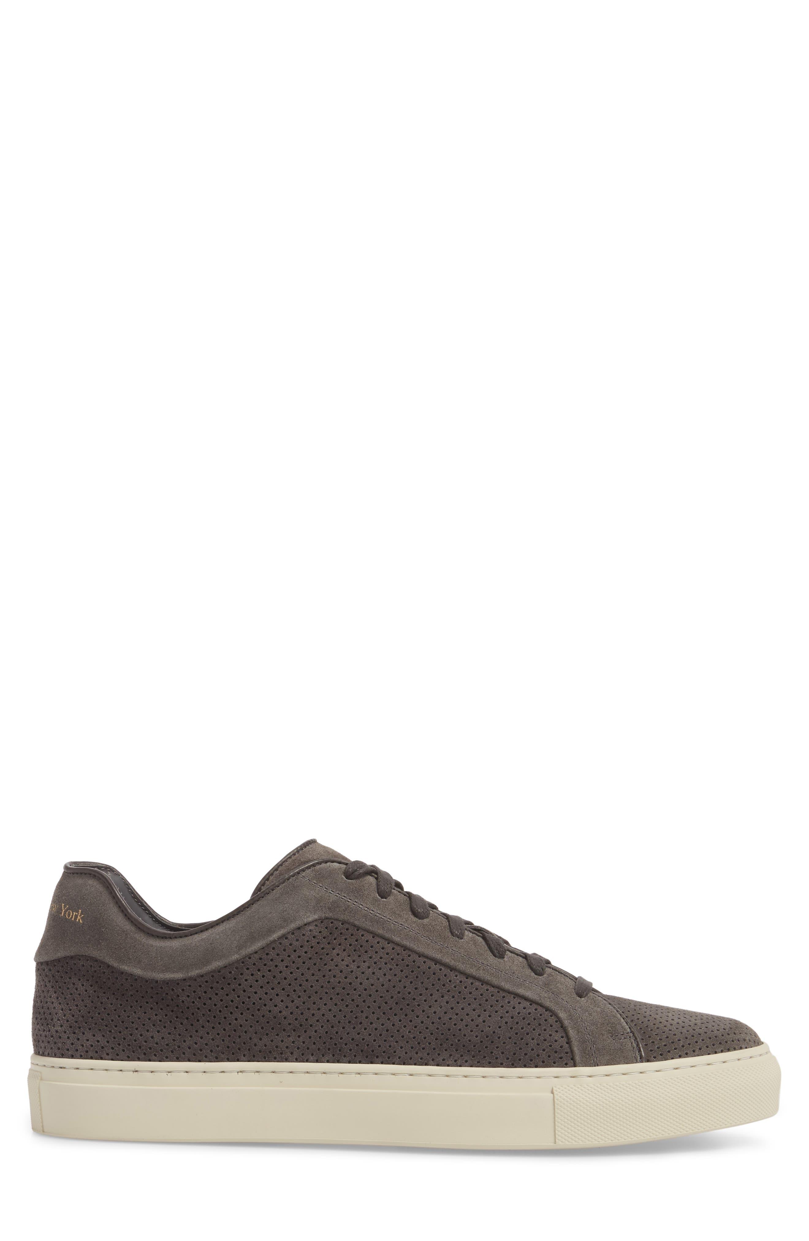 Hendrick Perforated Sneaker,                             Alternate thumbnail 3, color,                             Lavagna