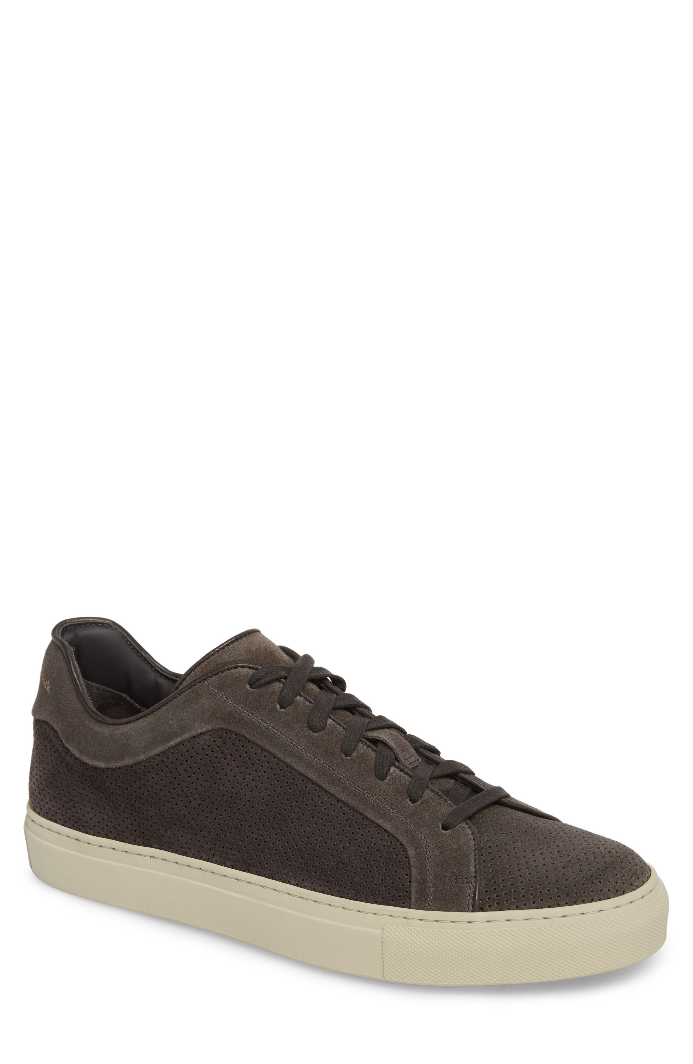 Hendrick Perforated Sneaker,                         Main,                         color, Lavagna