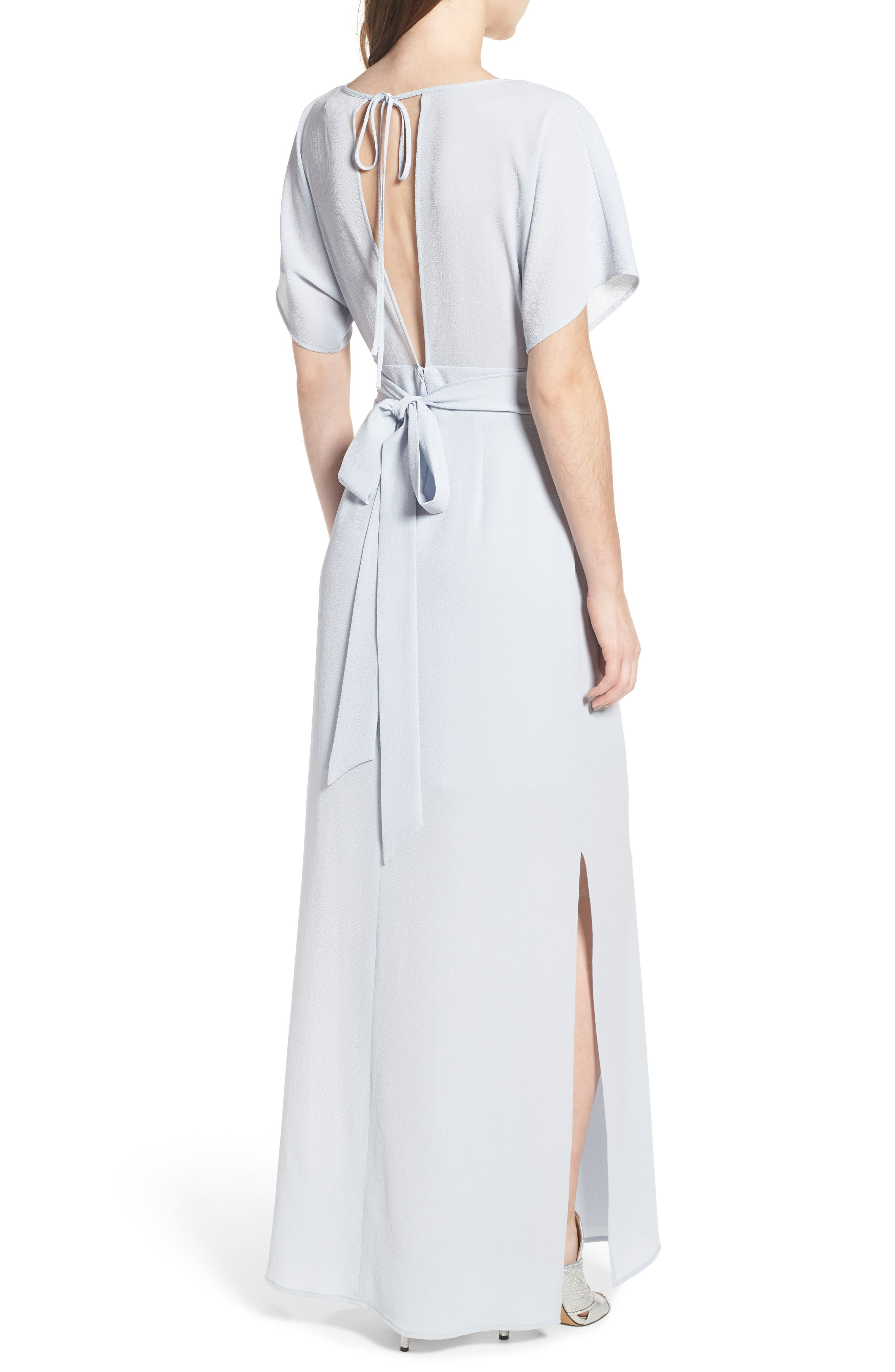 Carrara Slit Maxi Dress,                             Alternate thumbnail 2, color,                             Blue Ice