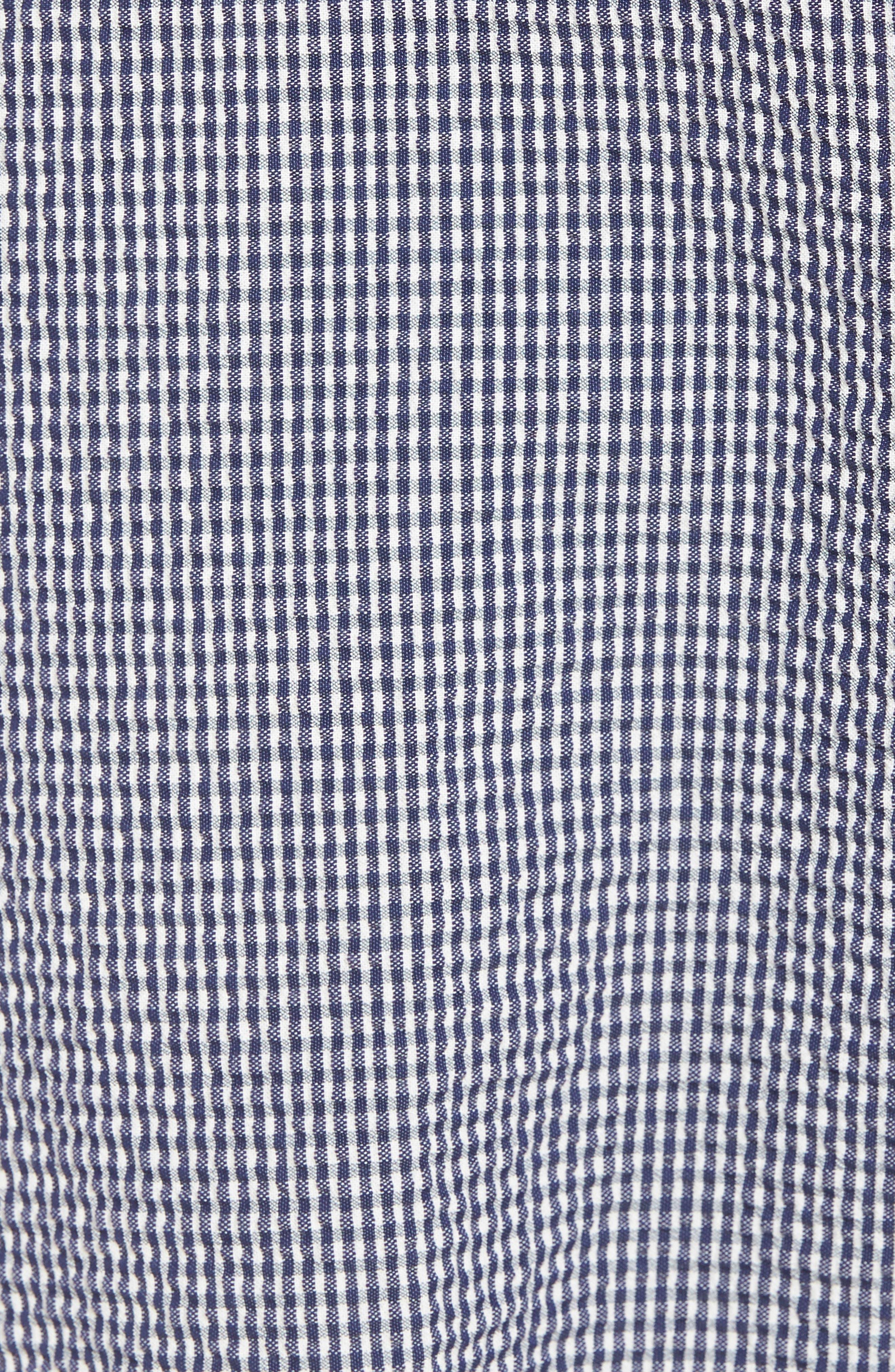 Stretch Seersucker Shorts,                             Alternate thumbnail 5, color,                             Marine Blue