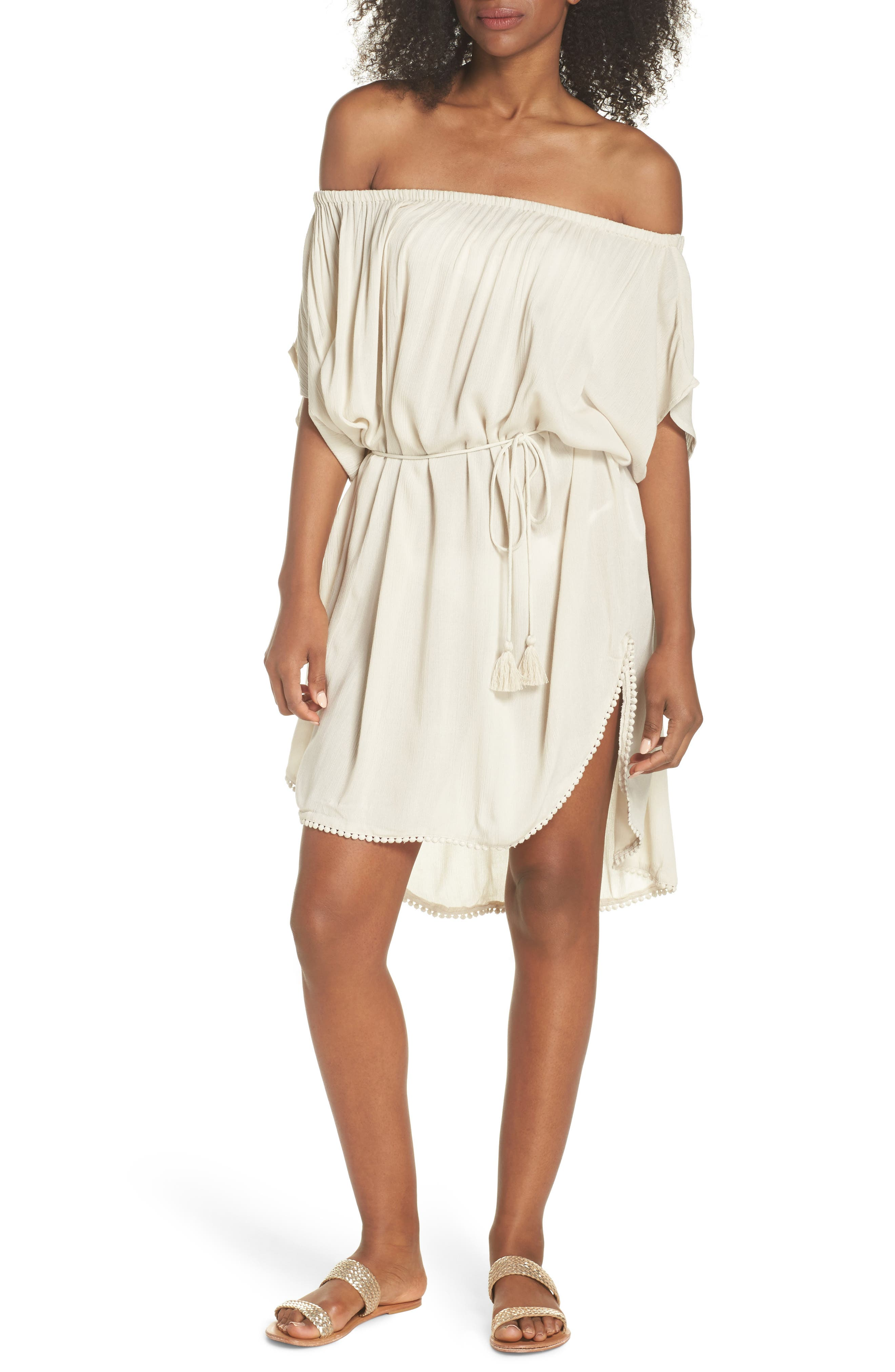 Seaside Cover-Up Dress,                             Main thumbnail 1, color,                             Stone