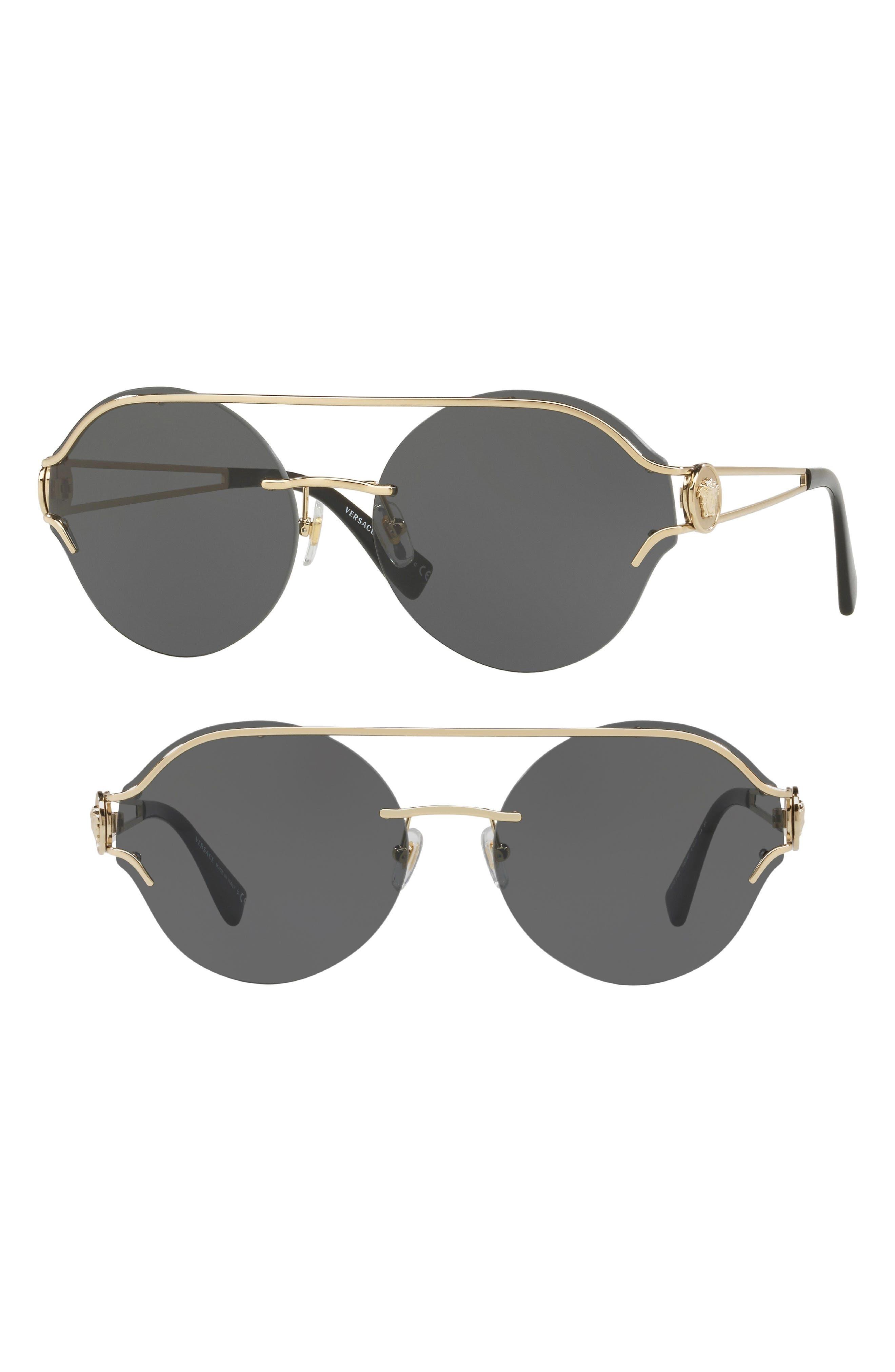 Versace Rock Icons Medusa 61mm Metal Sunglasses