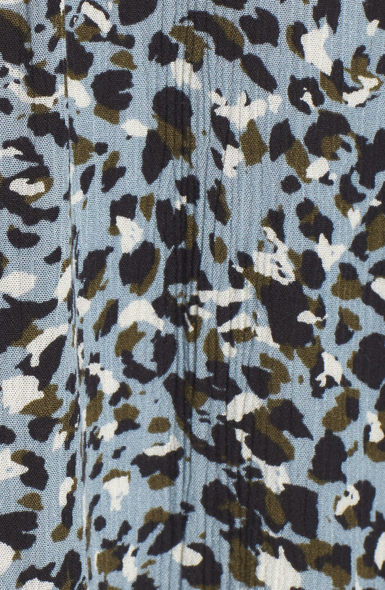 Tink Leopard Print Top,                             Alternate thumbnail 6, color,                             Bleu