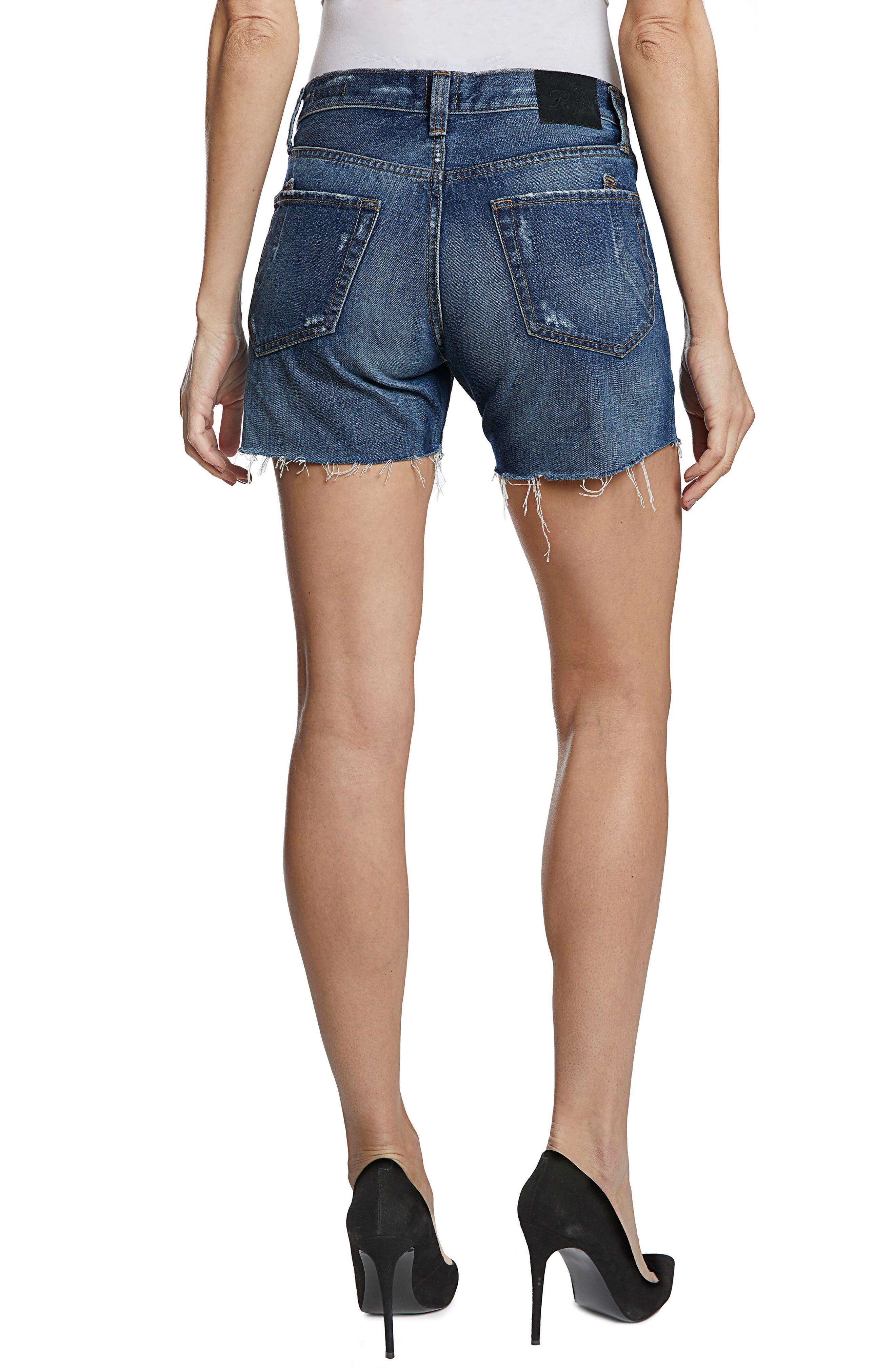 El Camino Cutoff Denim Boyfriend Shorts,                             Alternate thumbnail 2, color,                             Medium Wash