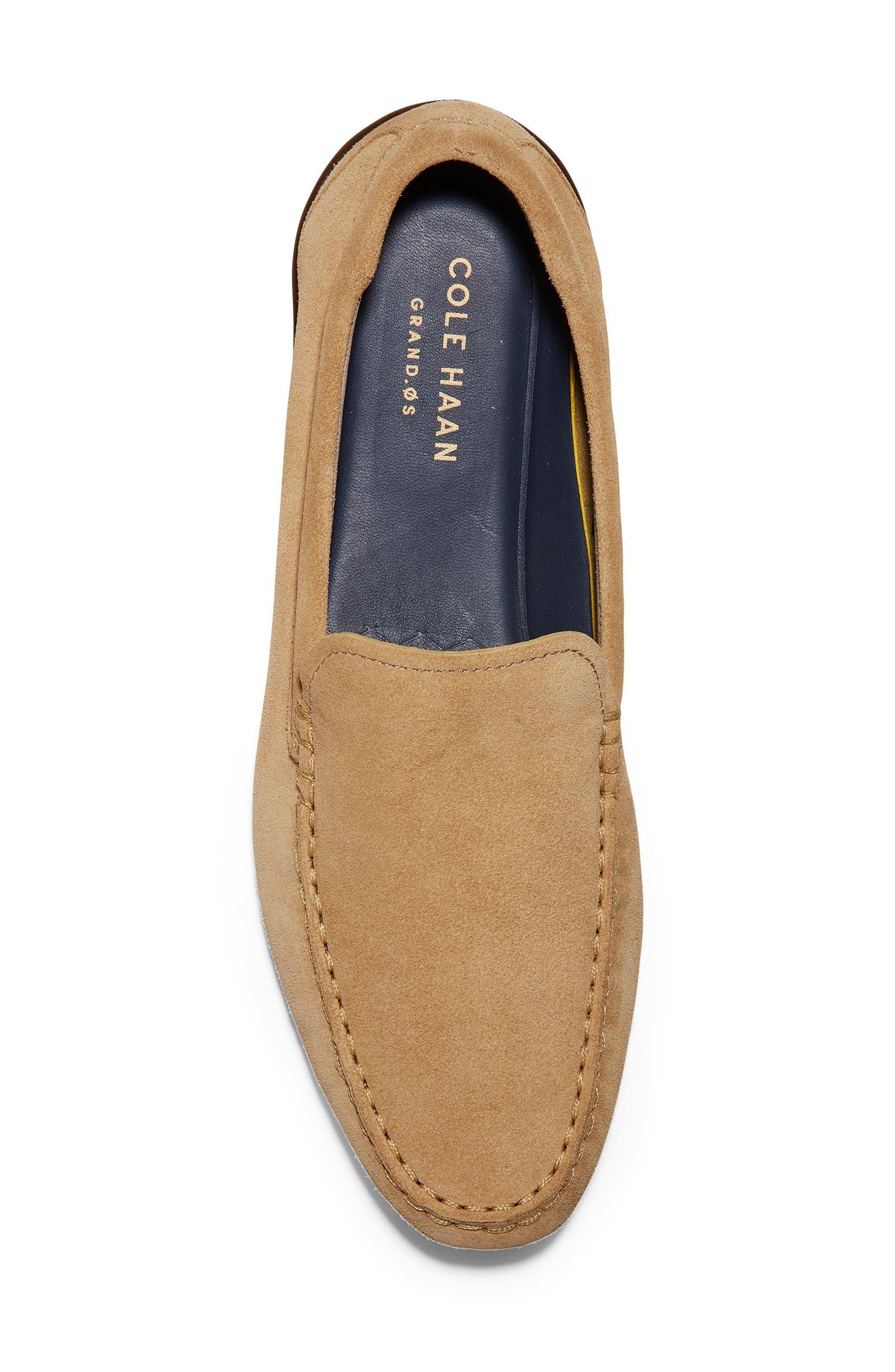 Branson Driving Shoe,                             Alternate thumbnail 5, color,                             Iced Coffee Suede
