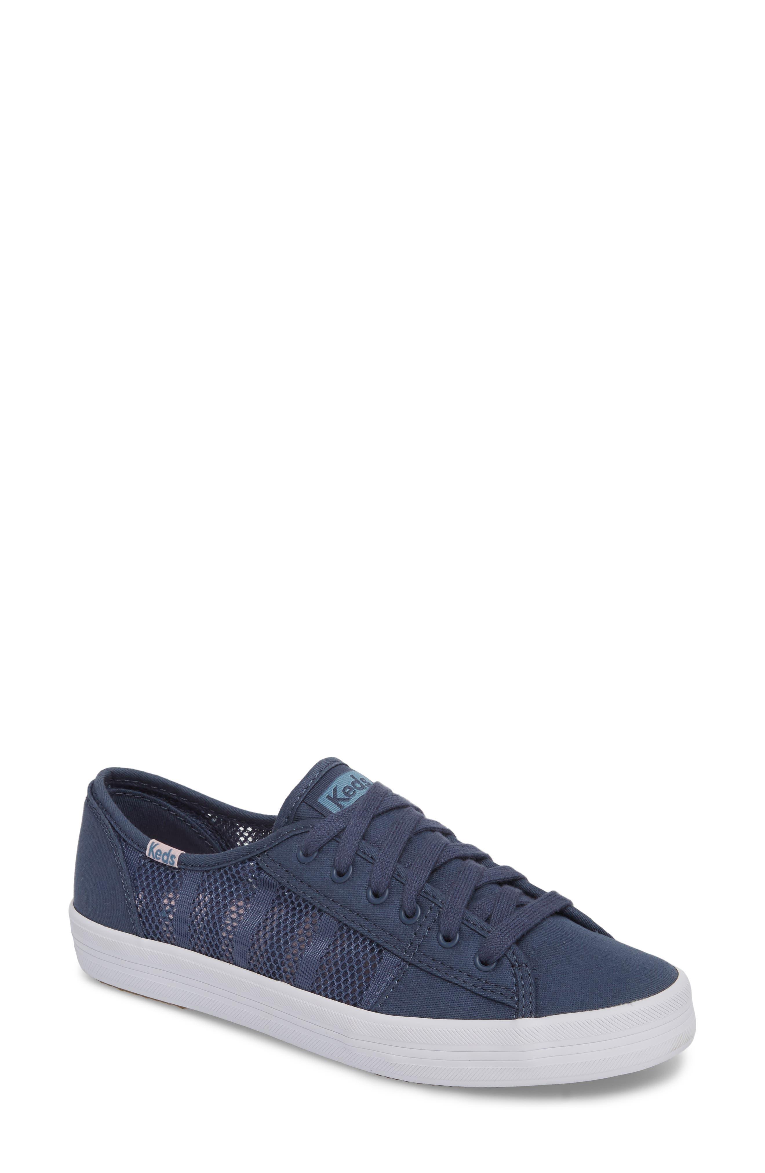 Kickstart Stripe Mesh Sneaker,                             Main thumbnail 1, color,                             Indigo