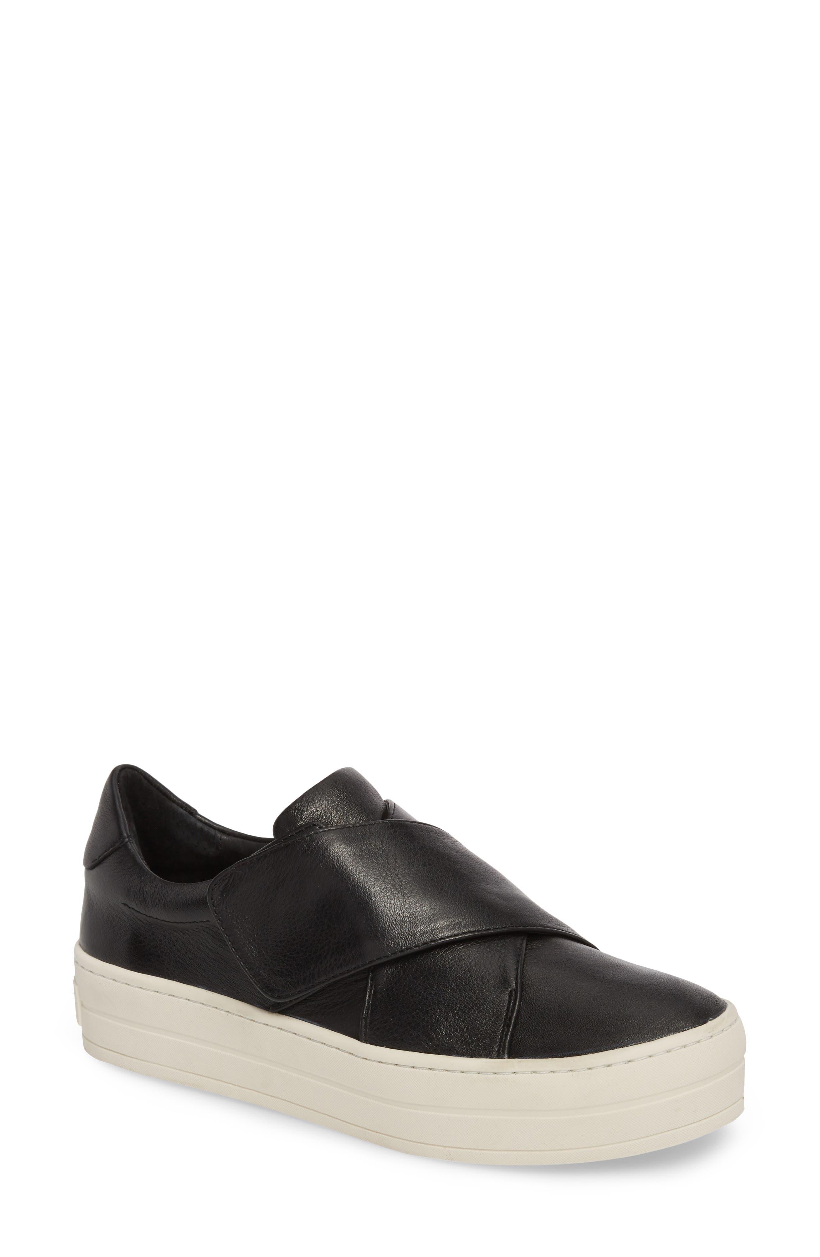 Harper Sneaker,                         Main,                         color, Black Leather