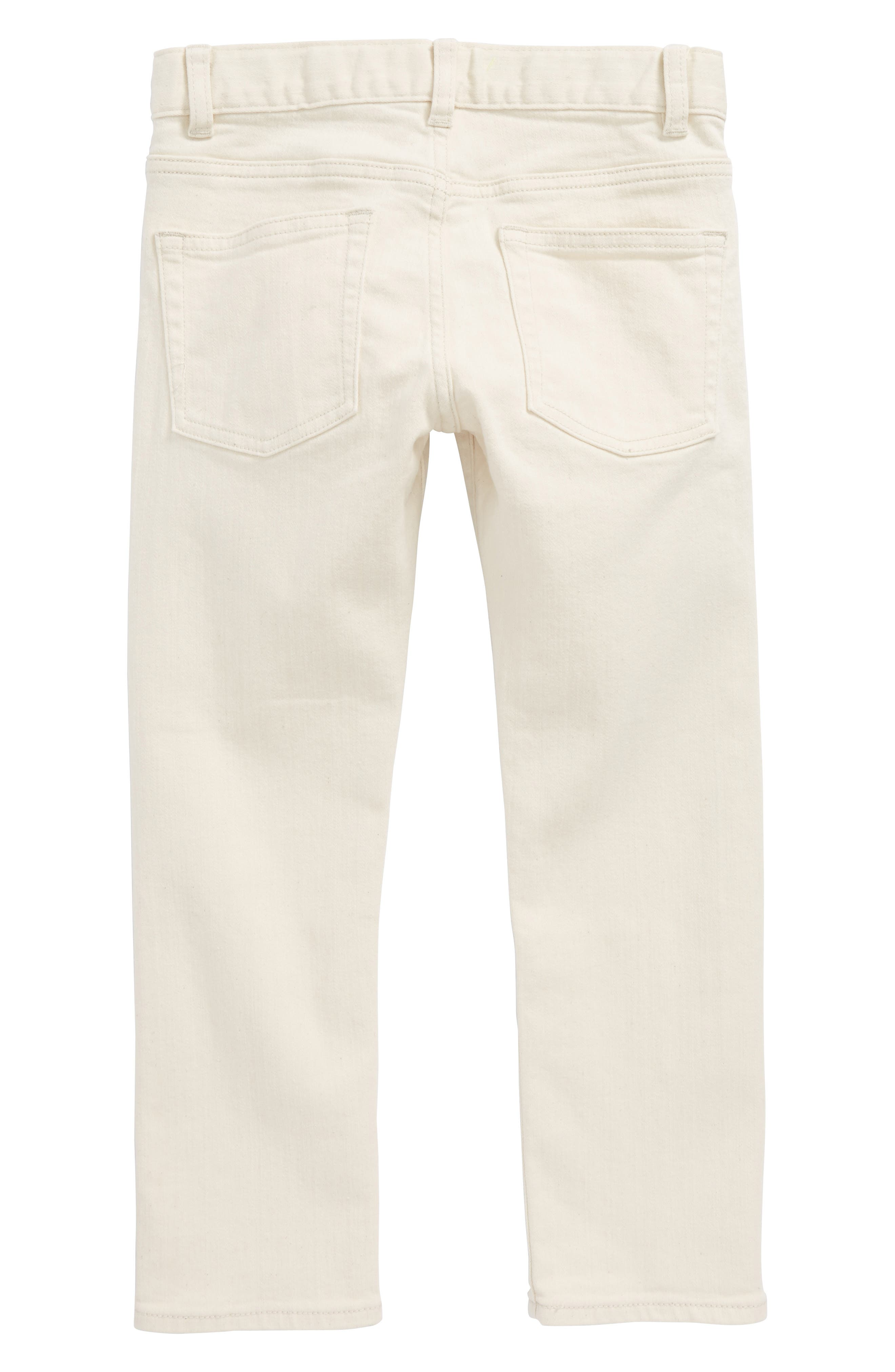 Ecru Slim Fit Pants,                             Alternate thumbnail 2, color,                             Ecru