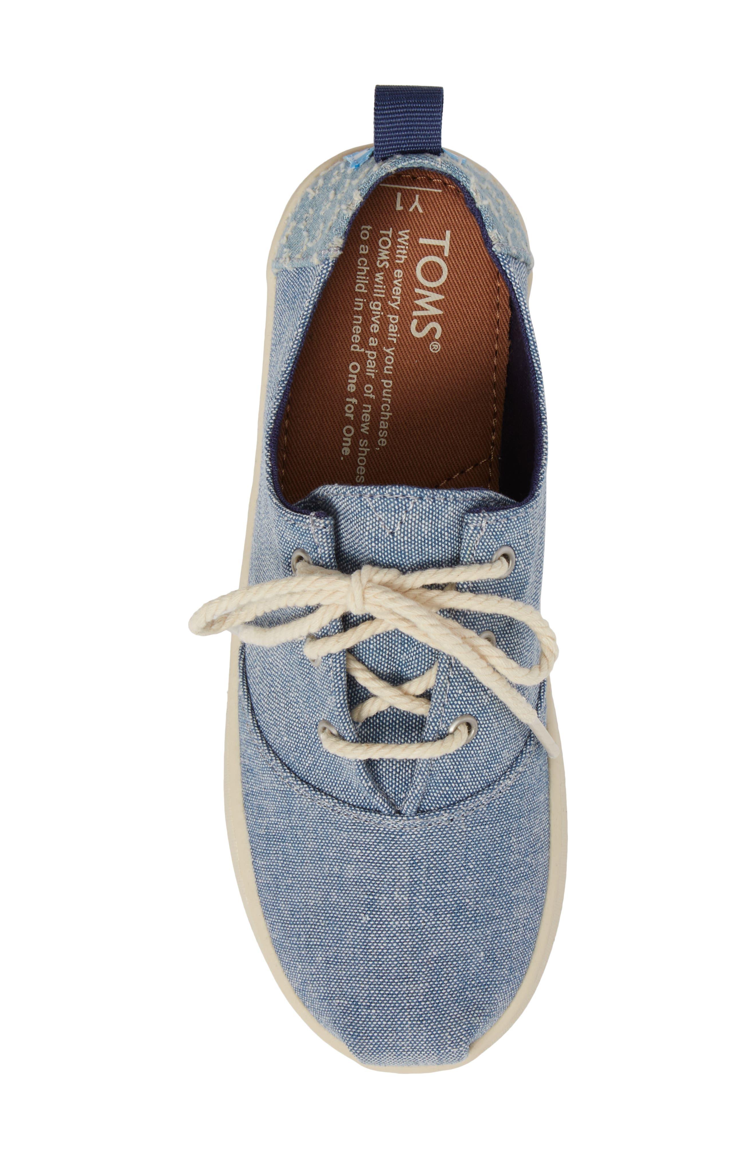 Lumin Sneaker,                             Alternate thumbnail 5, color,                             Blue Chambray