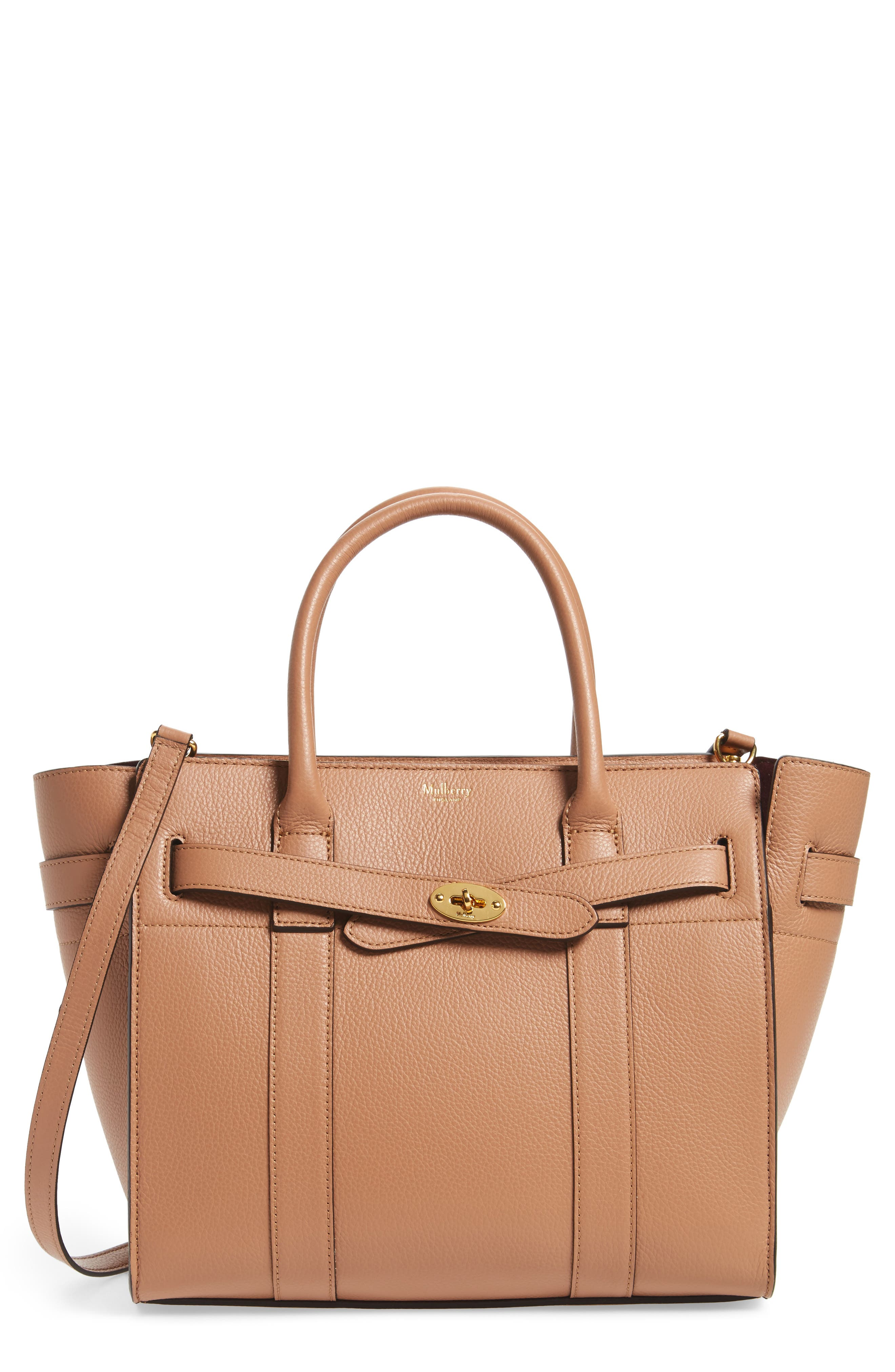 Alternate Image 1 Selected - Mulberry Small Zip Bayswater Classic Leather Tote