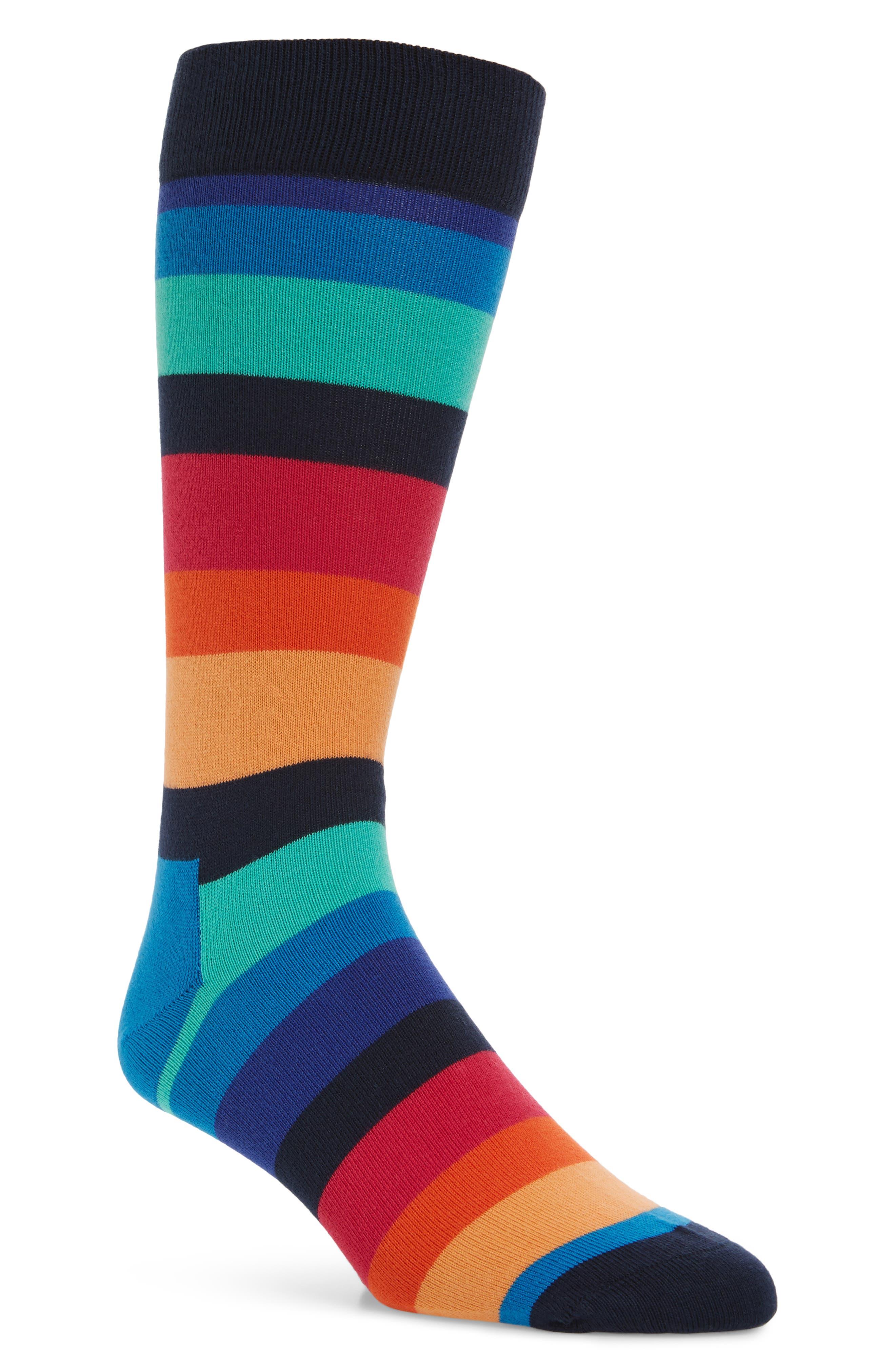 Stripe Socks,                             Main thumbnail 1, color,                             Blue Multi