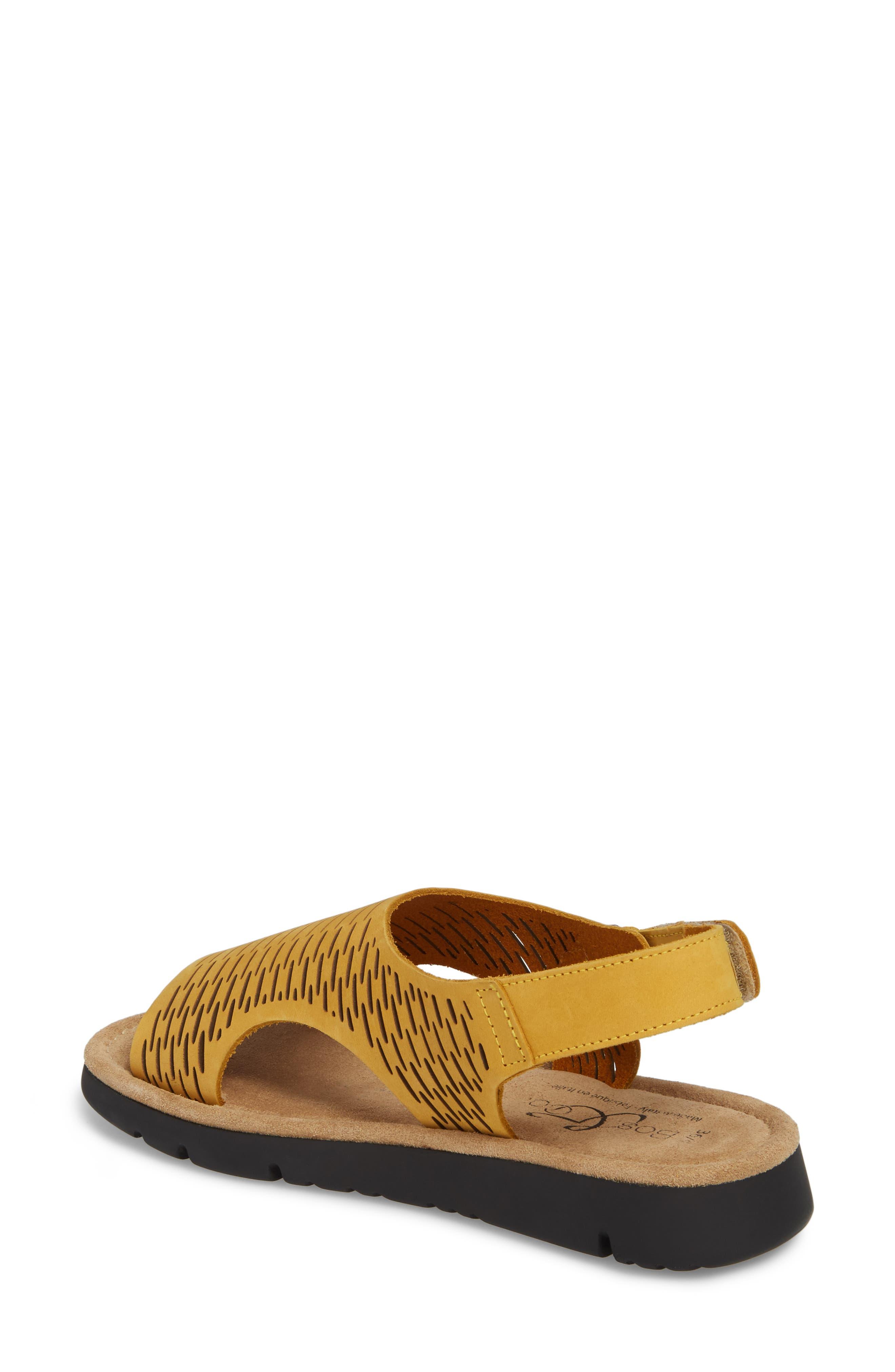 Saga Sandal,                             Alternate thumbnail 2, color,                             Mustard Nubuck Leather