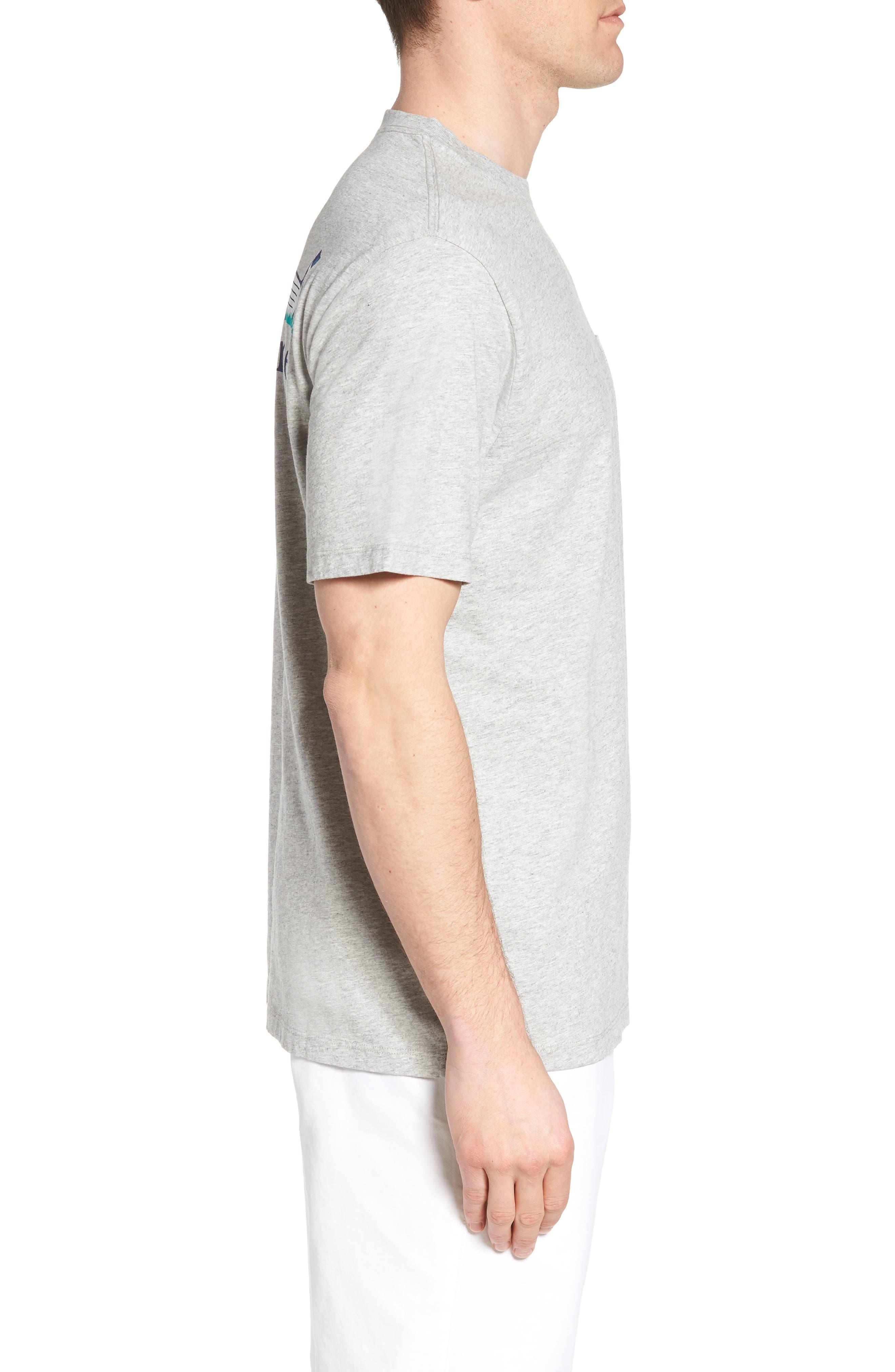 Regular Fit Golf T-Shirt,                             Alternate thumbnail 3, color,                             Gray Heather