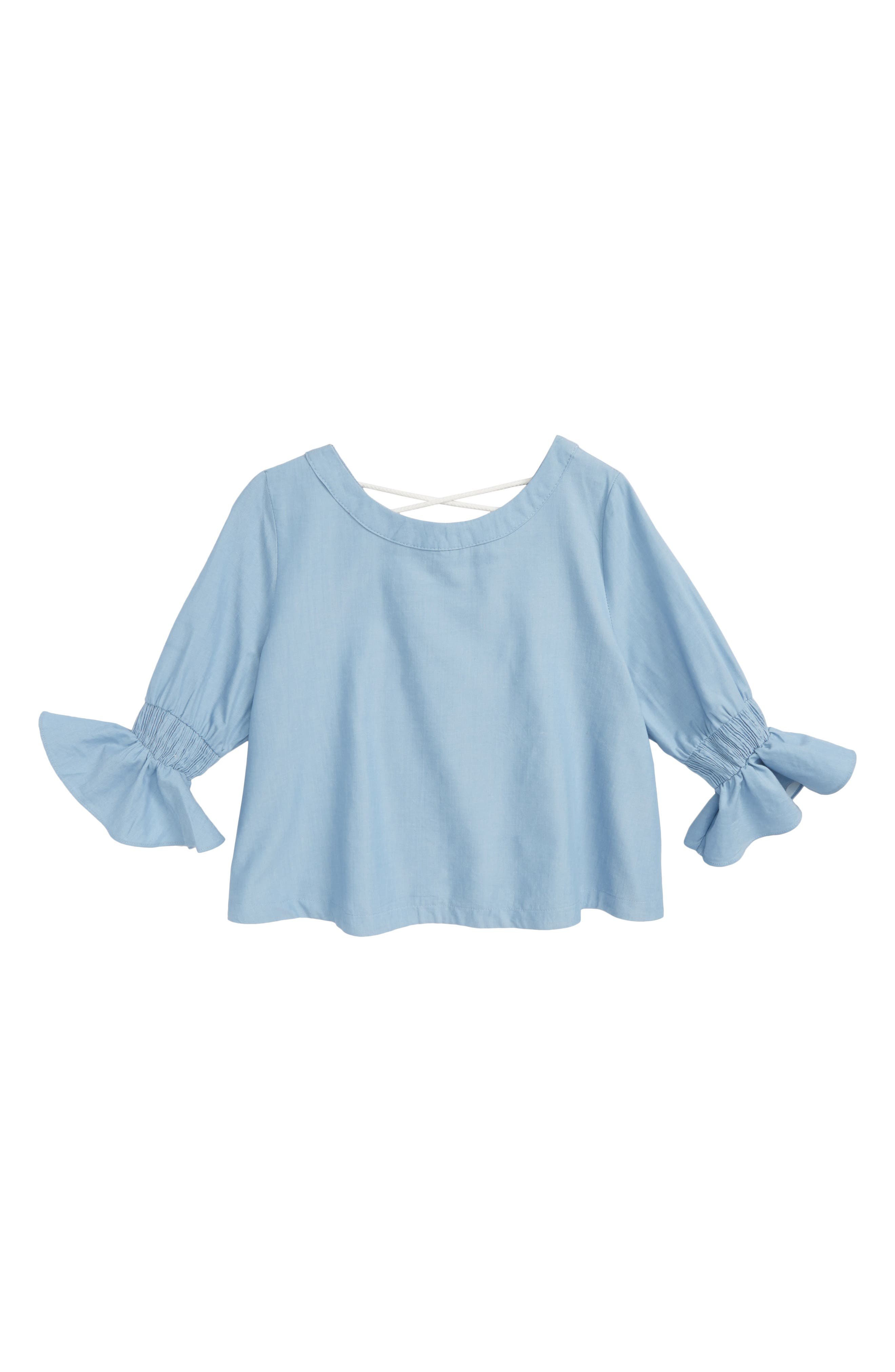 Maddie Chambray Blouse (Big Girls)