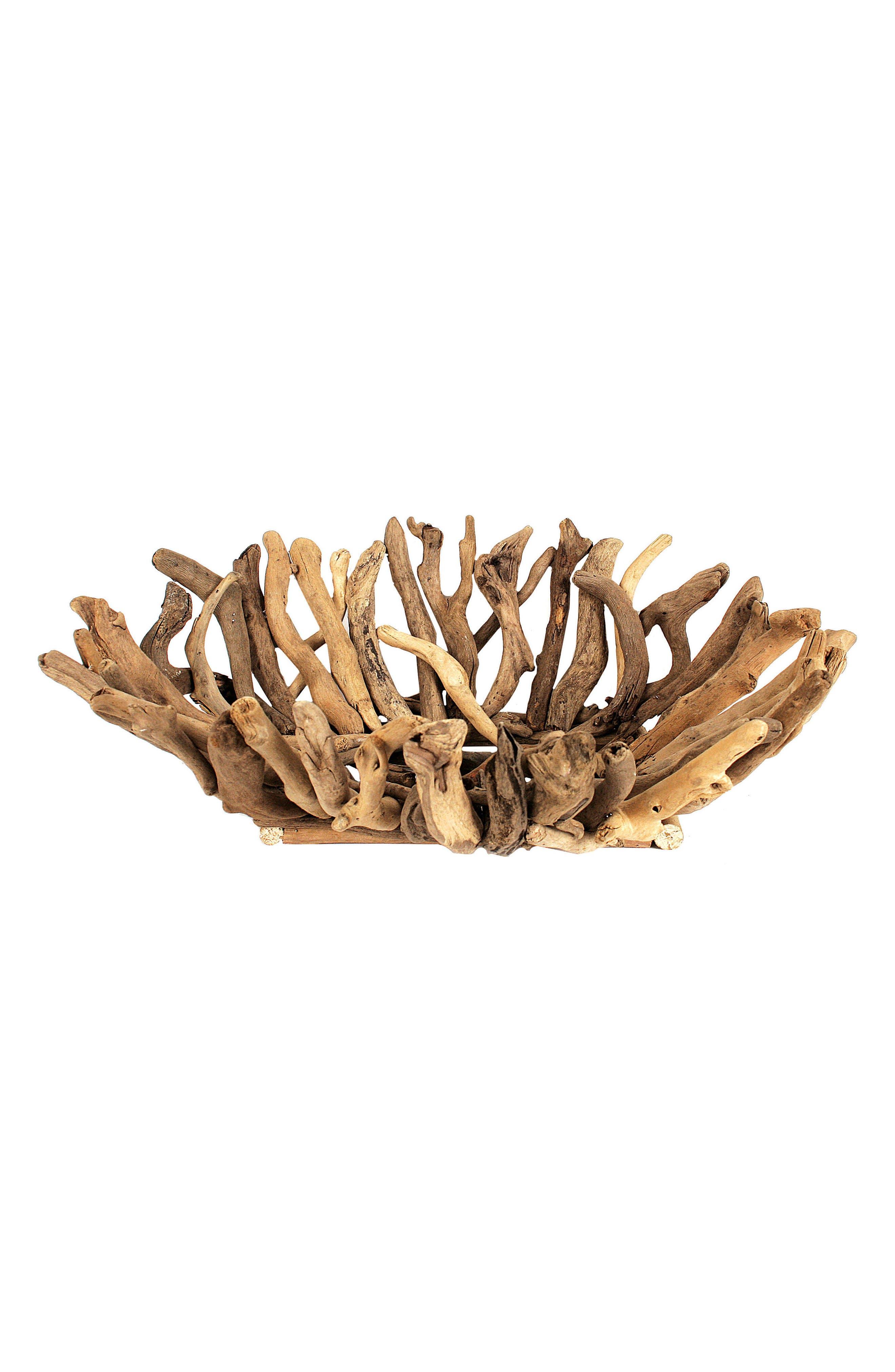 Driftwood Bowl,                             Main thumbnail 1, color,                             Brown