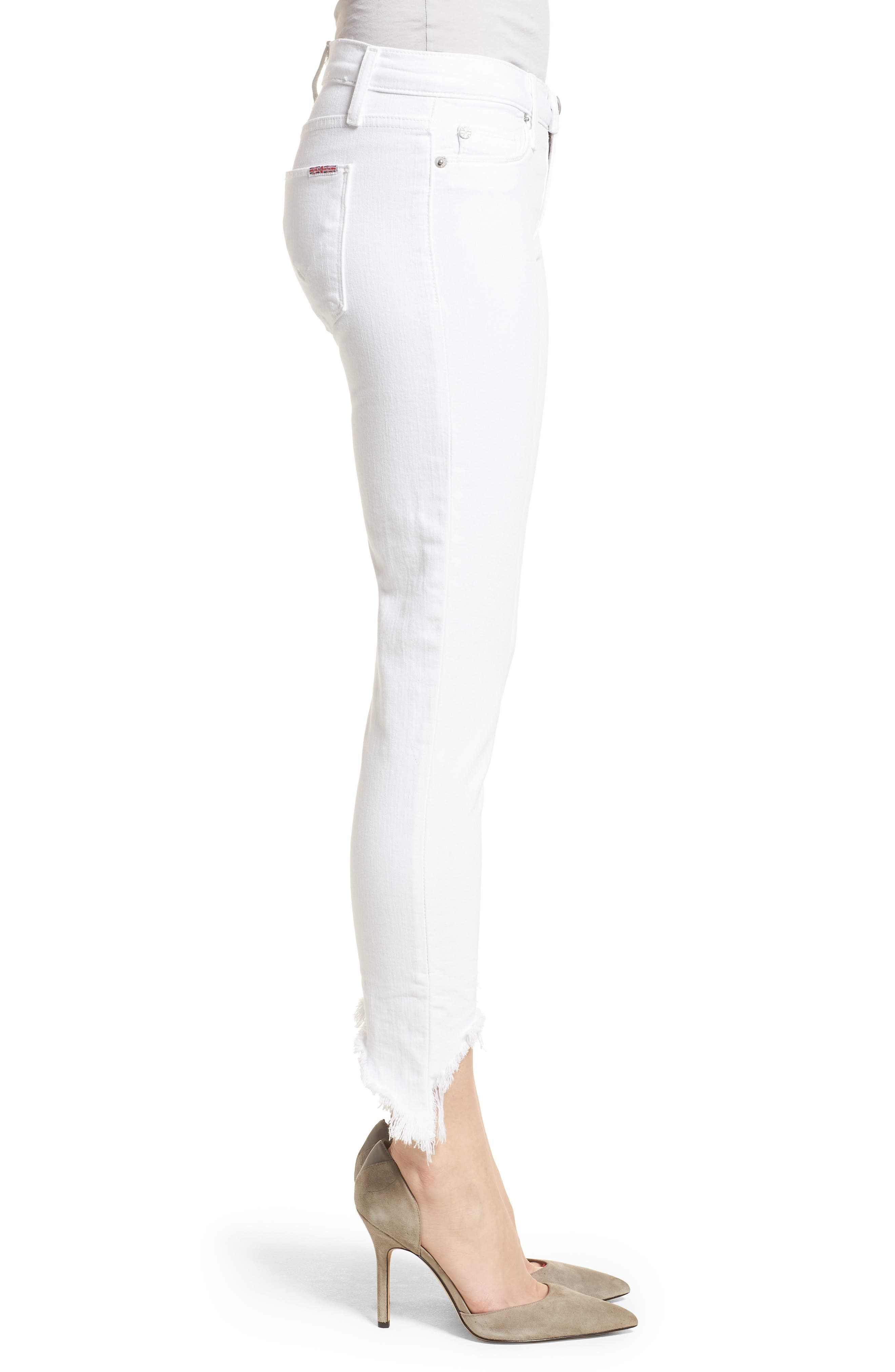 Tally Ankle Skinny Jeans,                             Alternate thumbnail 3, color,                             Destroyed Optical White