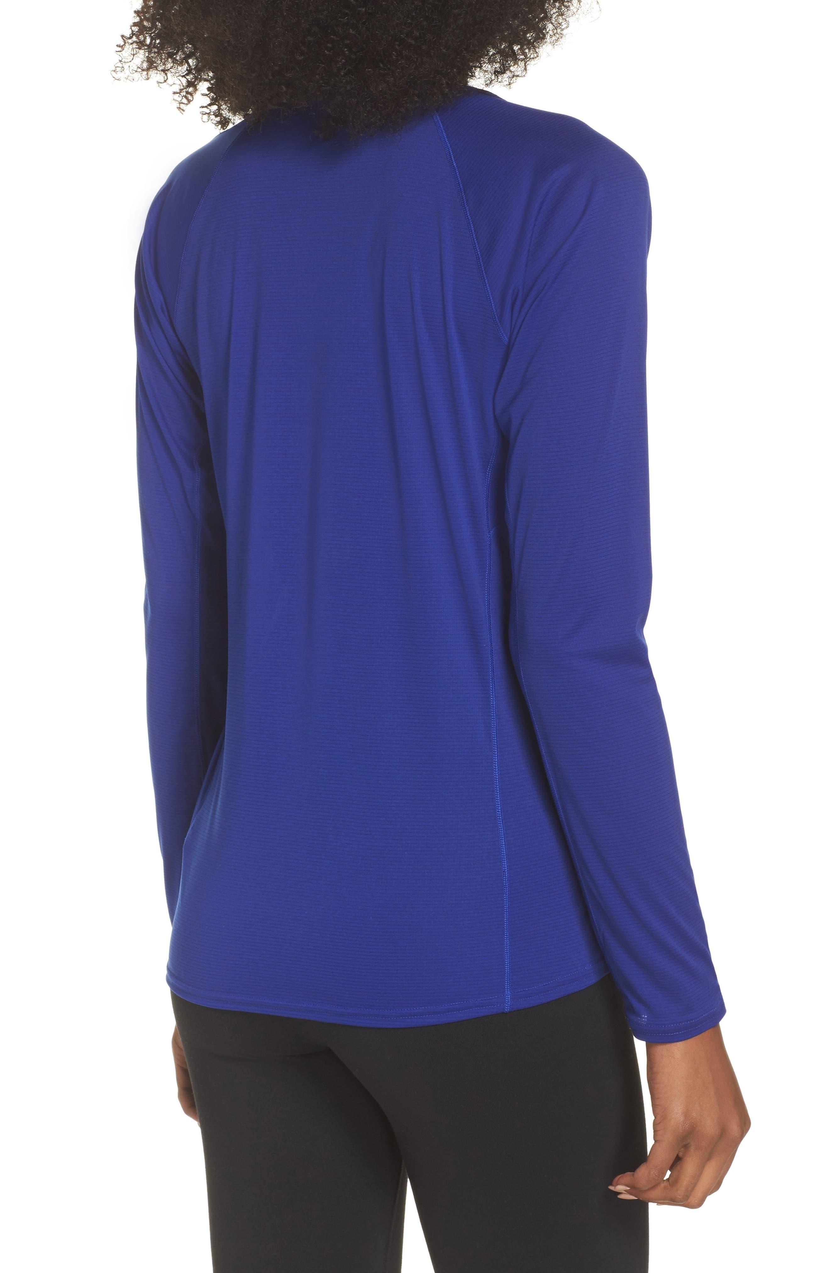 Lightweight Capilene<sup>®</sup> Long-Sleeve Tee,                             Alternate thumbnail 2, color,                             Cobalt Blue