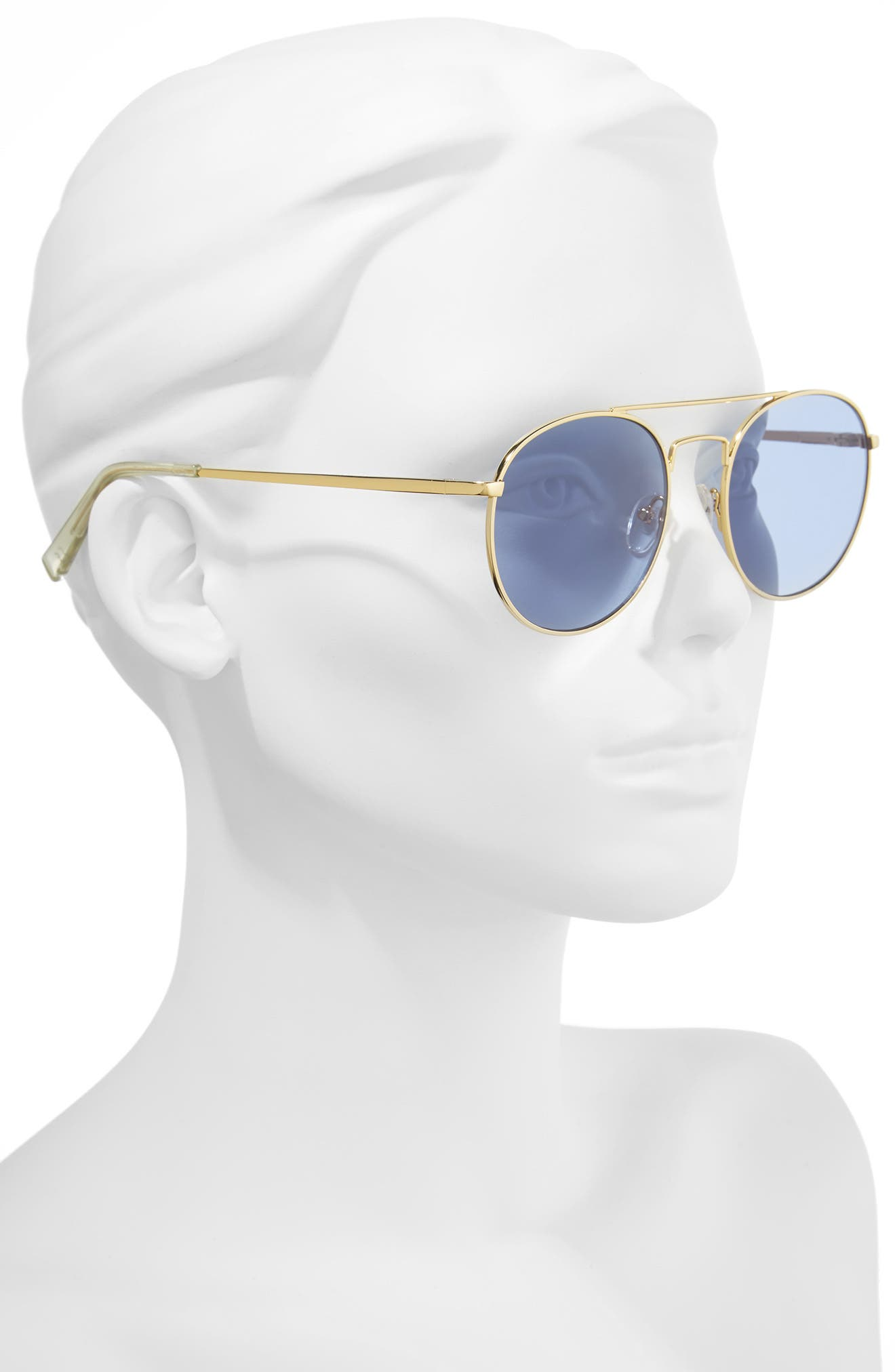 Revolution 53mm Aviator Sunglasses,                             Alternate thumbnail 2, color,                             Bright Gold