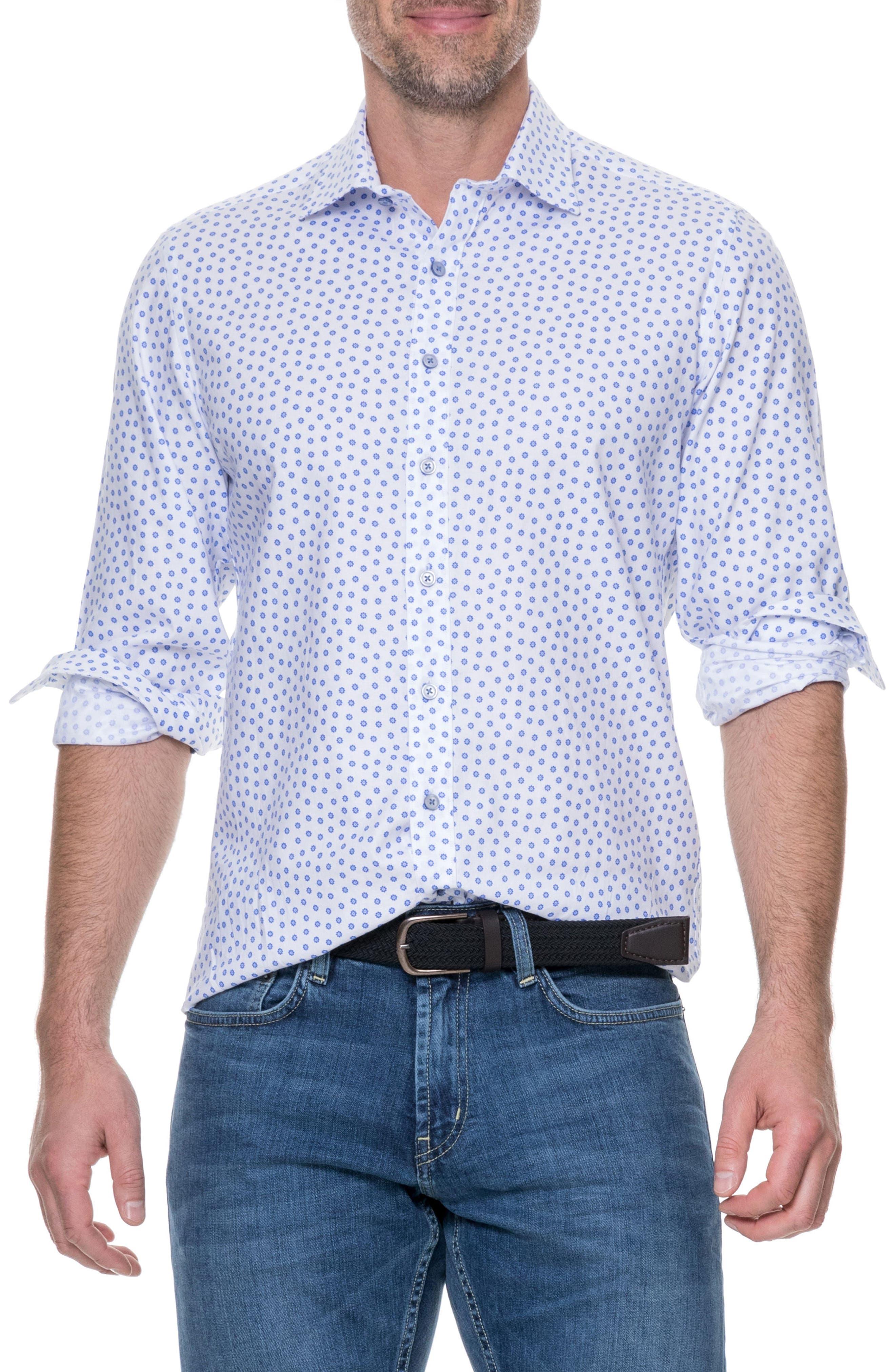 Drummond Regular Fit Sport Shirt,                         Main,                         color, Snow
