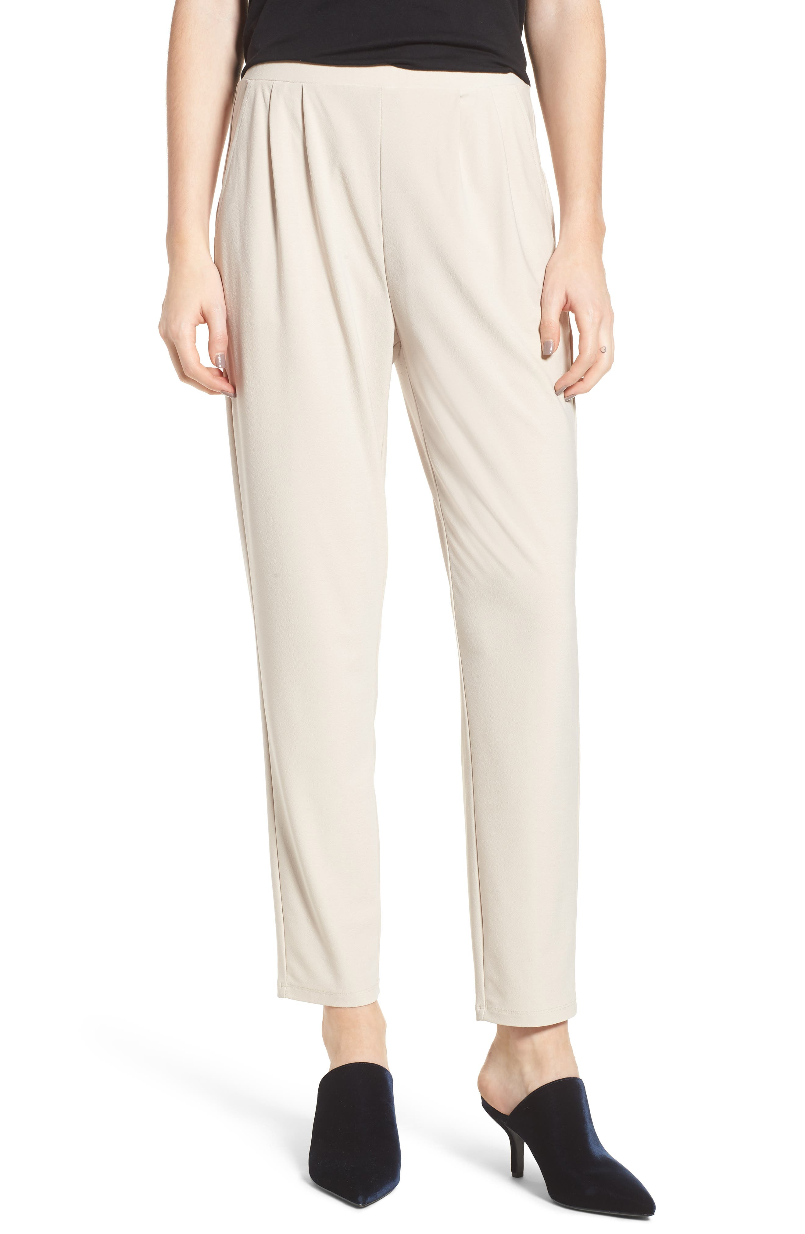 Pleat Front Trousers,                         Main,                         color, Beige Morn