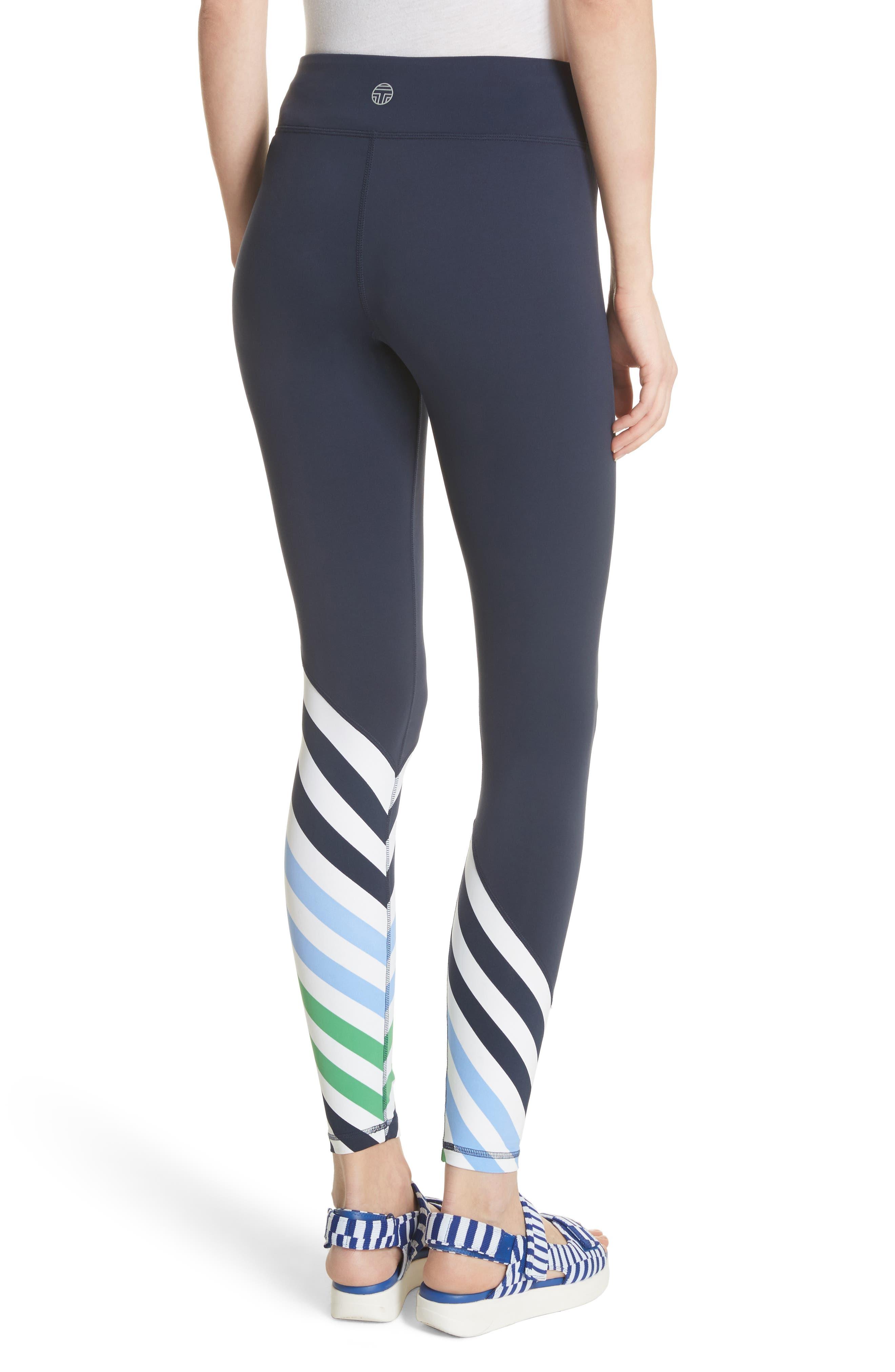 Diagonal Stripe Leggings,                             Alternate thumbnail 2, color,                             Tory Navy
