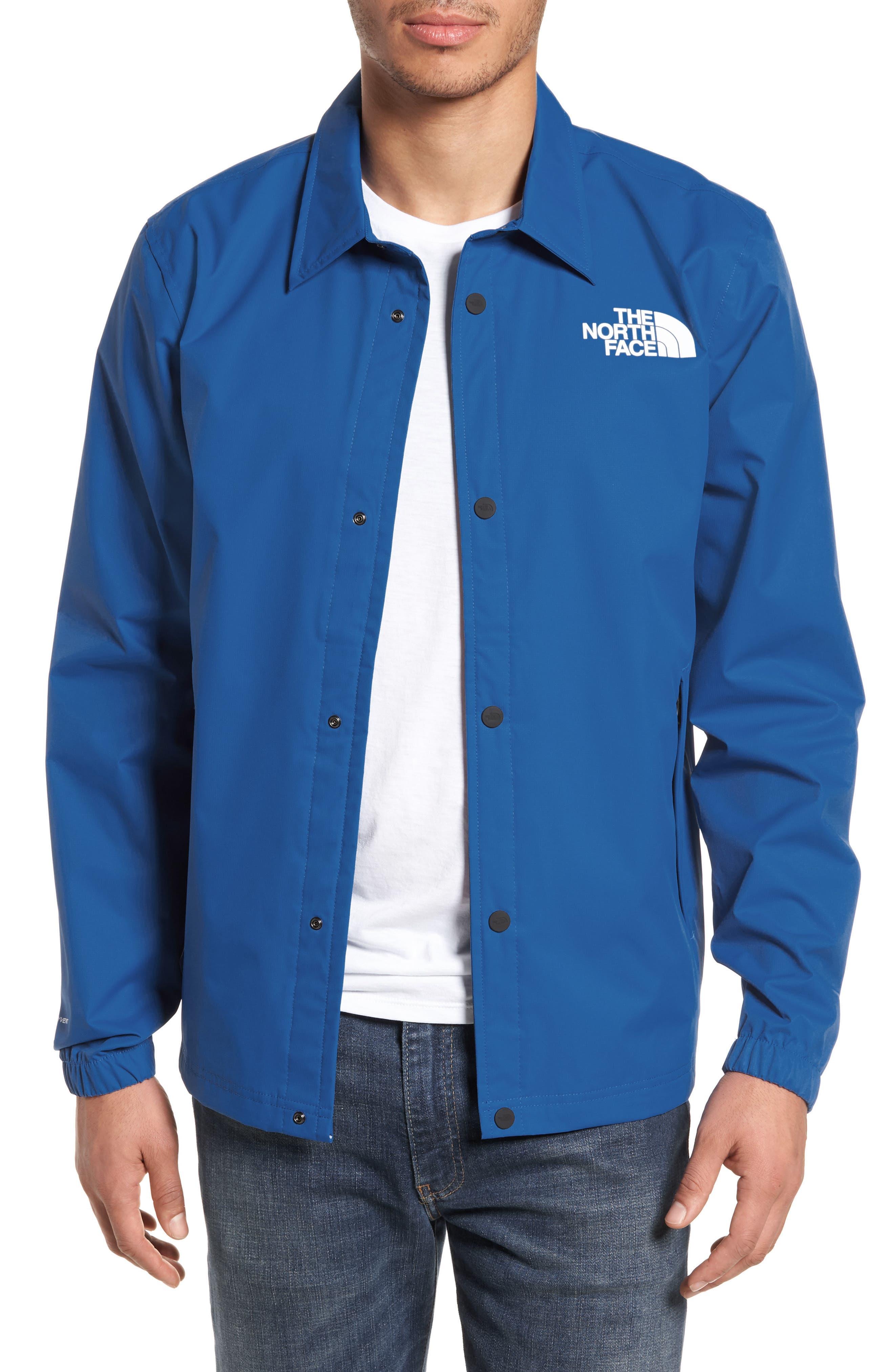 Coaches Rain Jacket,                             Main thumbnail 1, color,                             Turkish Sea