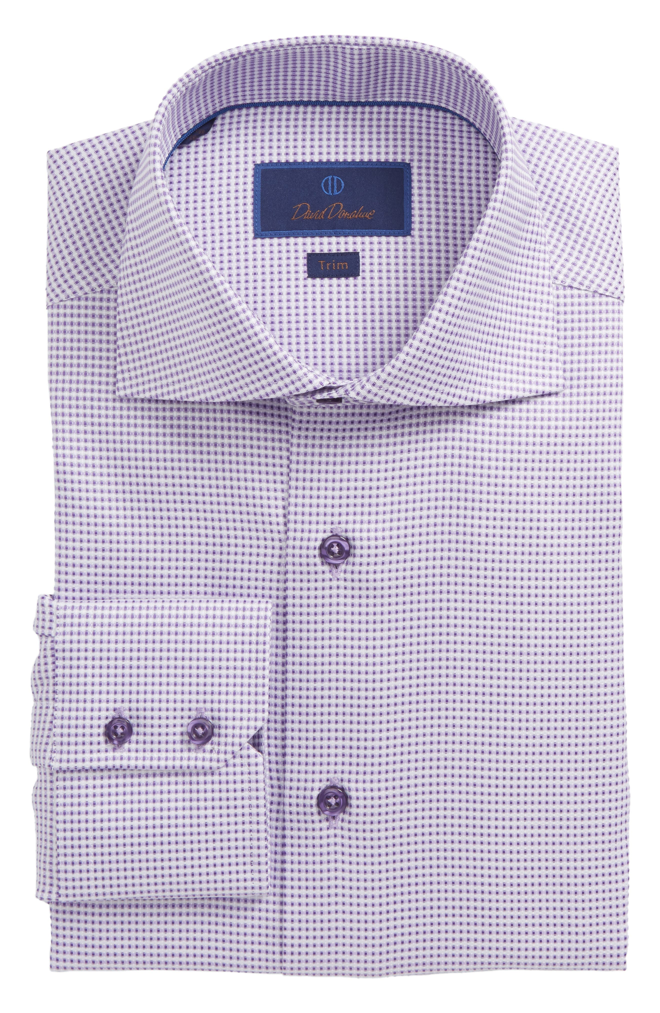 Trim Fit Dobby Dress Shirt,                             Main thumbnail 1, color,                             Lilac