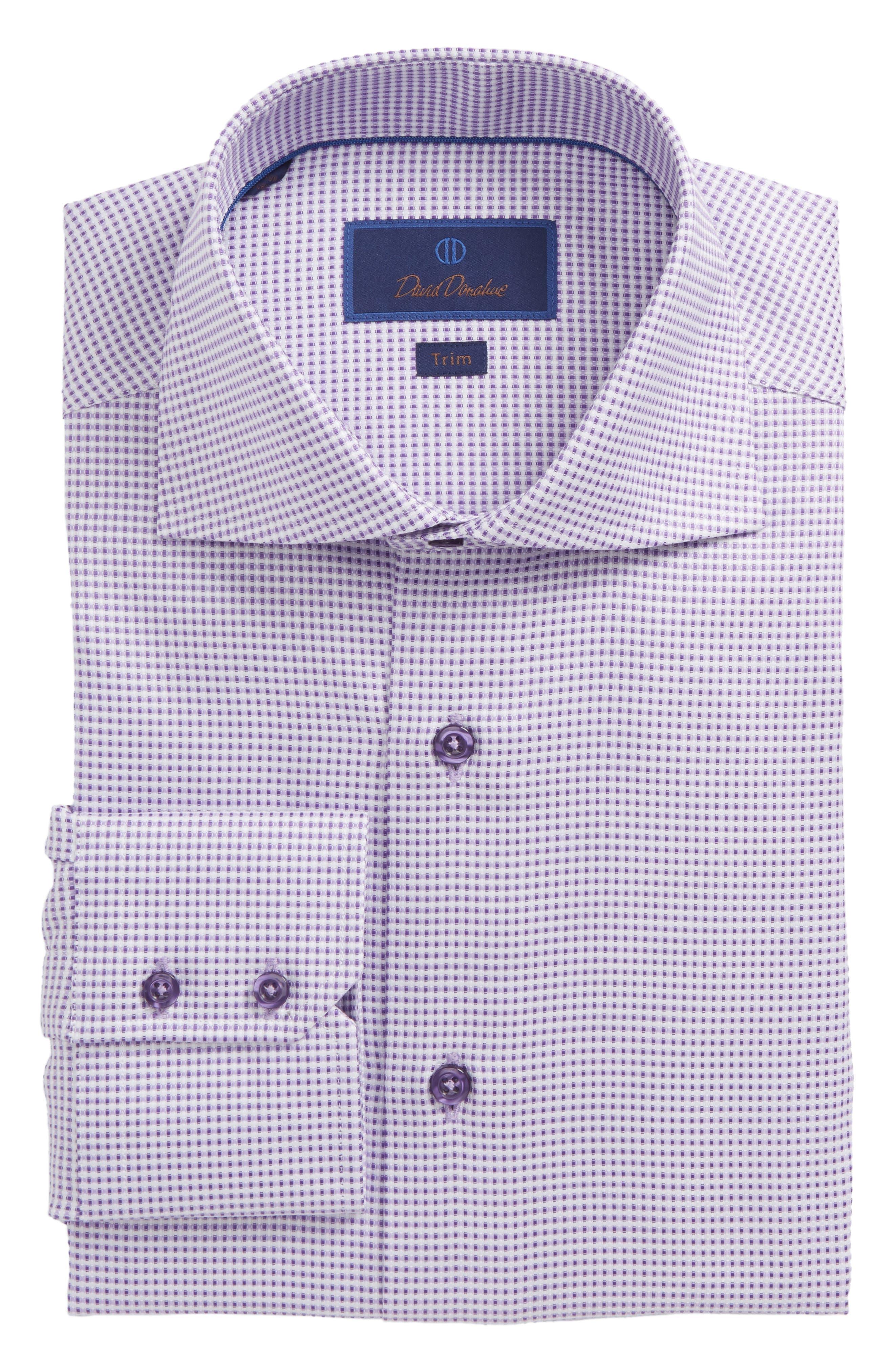 Trim Fit Dobby Dress Shirt,                         Main,                         color, Lilac