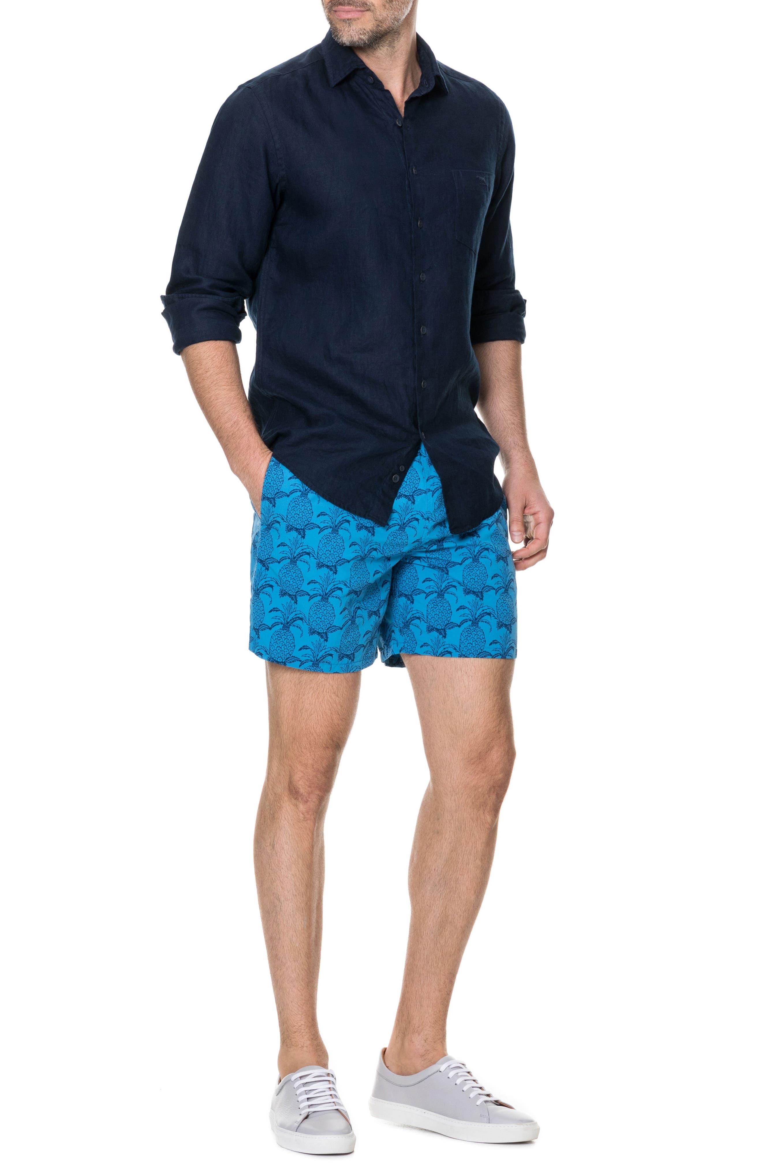 Denver Regular Fit Linen Sport Shirt,                             Alternate thumbnail 5, color,                             Indigo