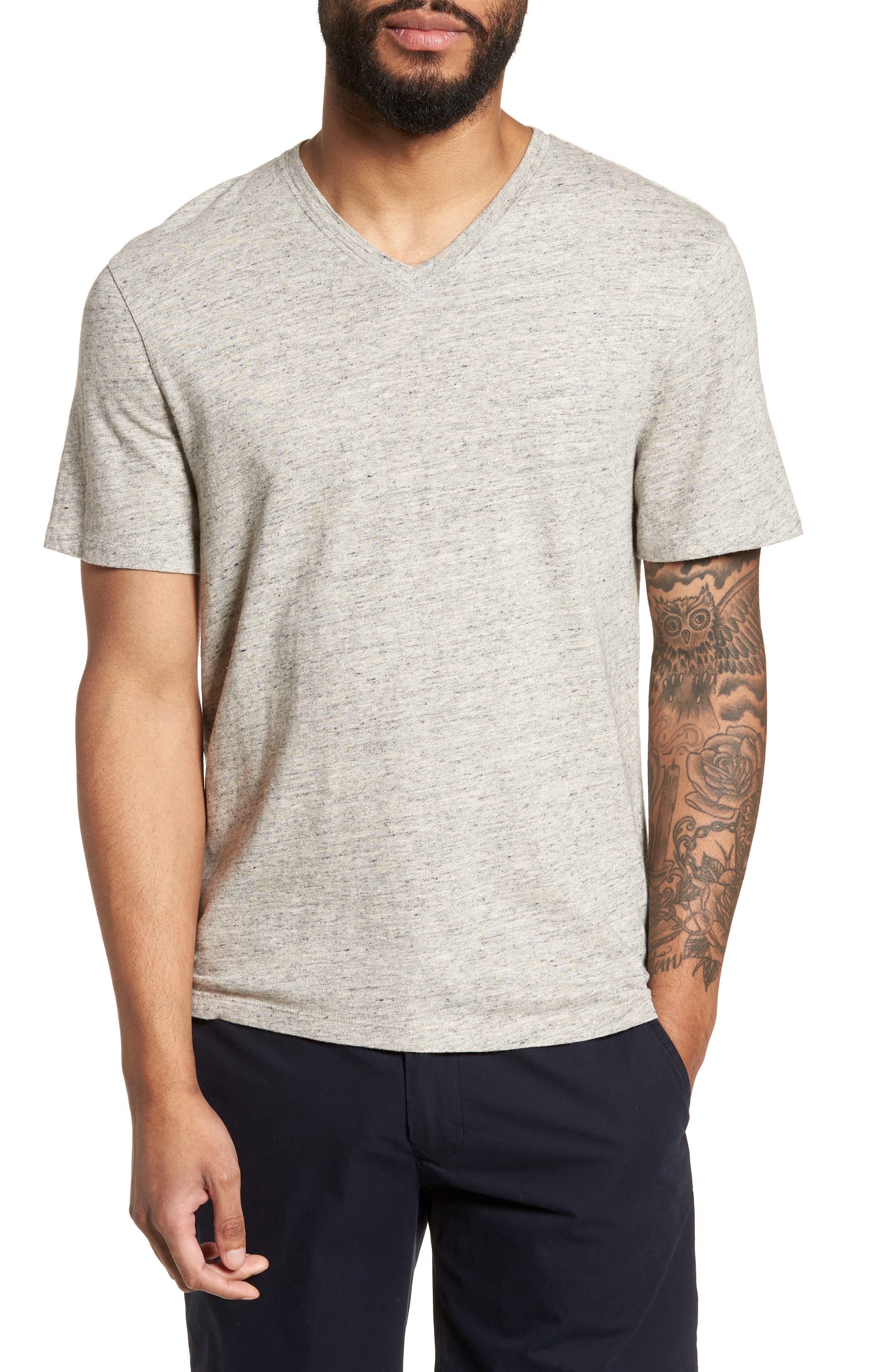 Slim Fit V-Neck T-Shirt,                         Main,                         color, Grey