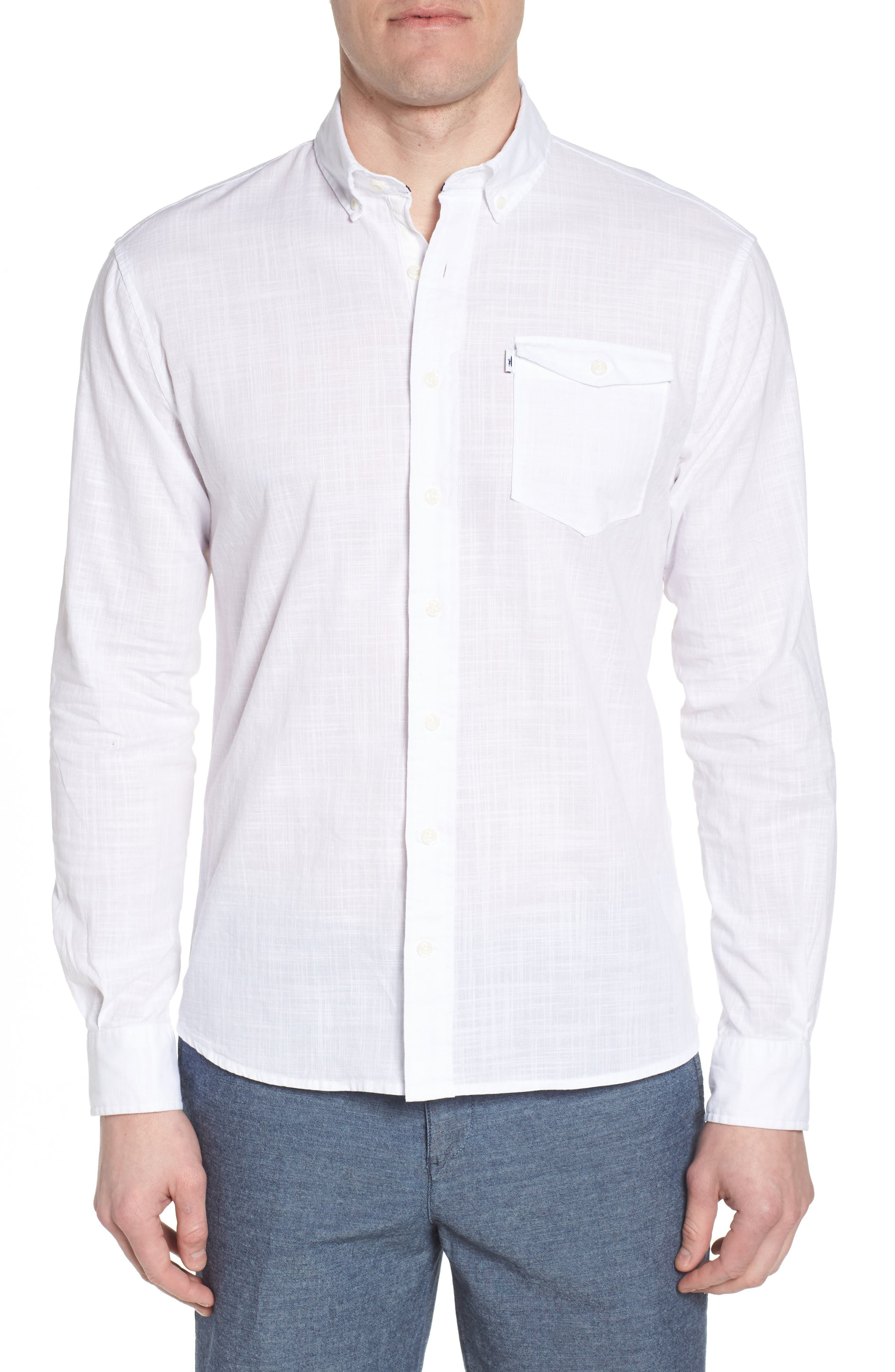 Brodie Regular Fit Sport Shirt,                             Main thumbnail 1, color,                             White