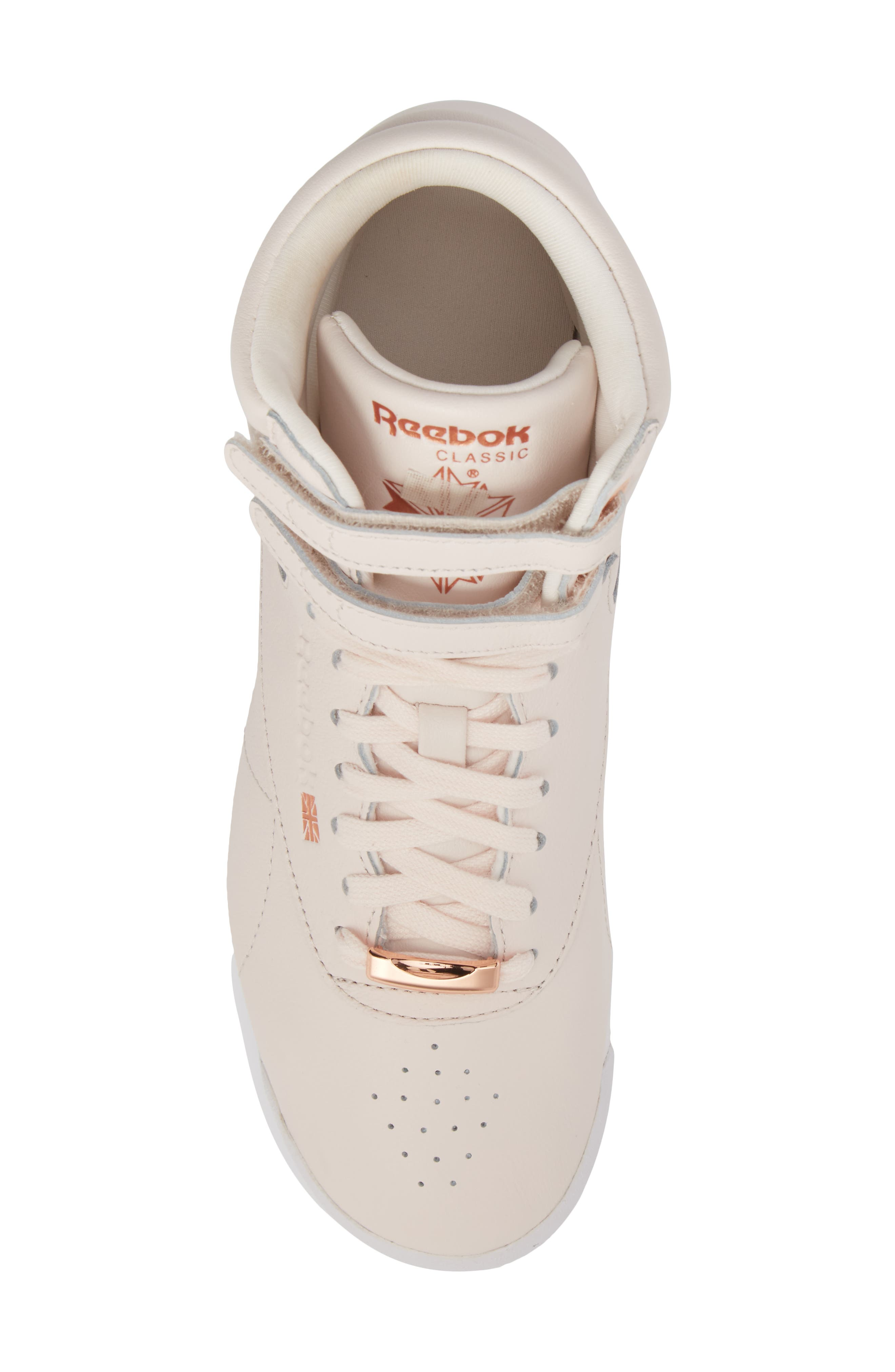 Freestyle Hi Muted Sneaker,                             Alternate thumbnail 5, color,                             Pale Pink/ White/ Cool Shadow