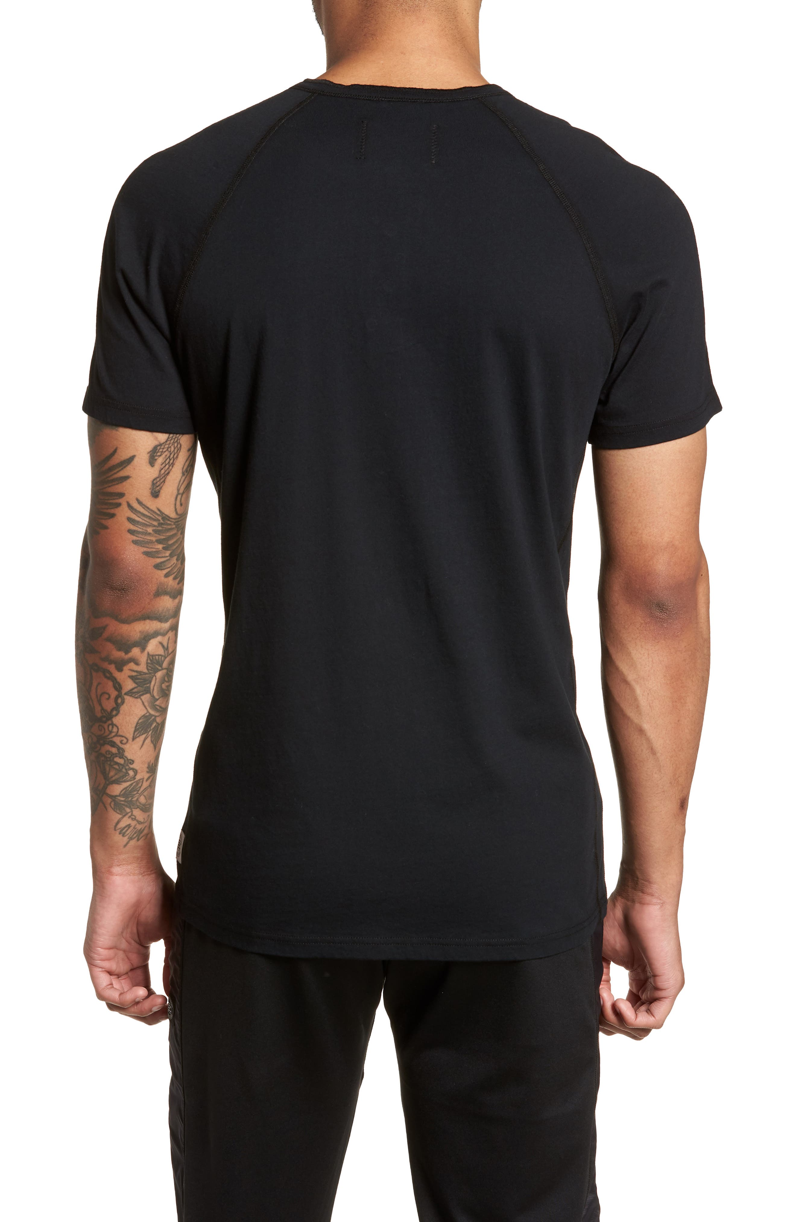 Jersey Henley,                             Alternate thumbnail 2, color,                             Black