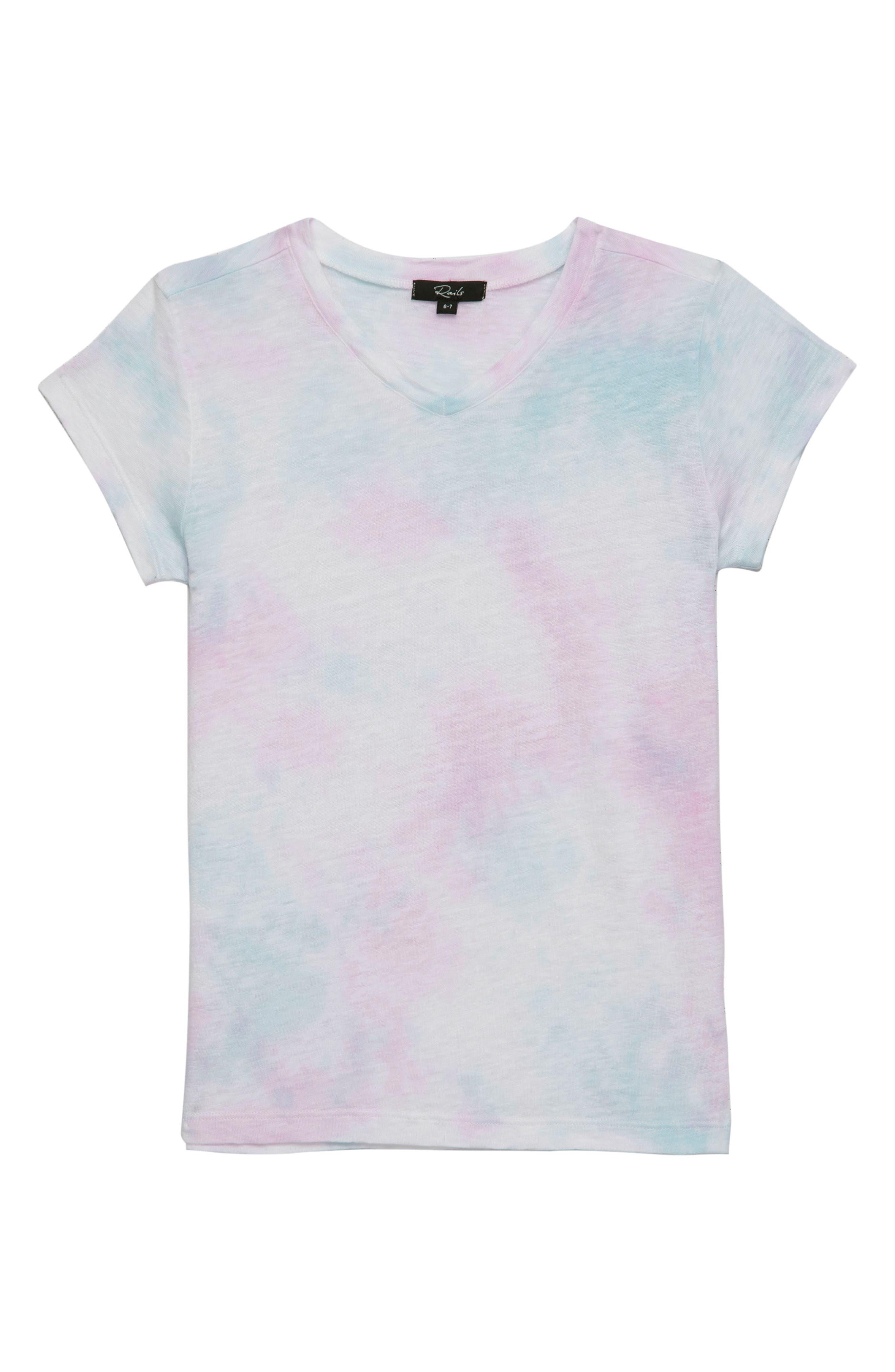 Carlyn Tee,                             Main thumbnail 1, color,                             Rainbow Tie Dye
