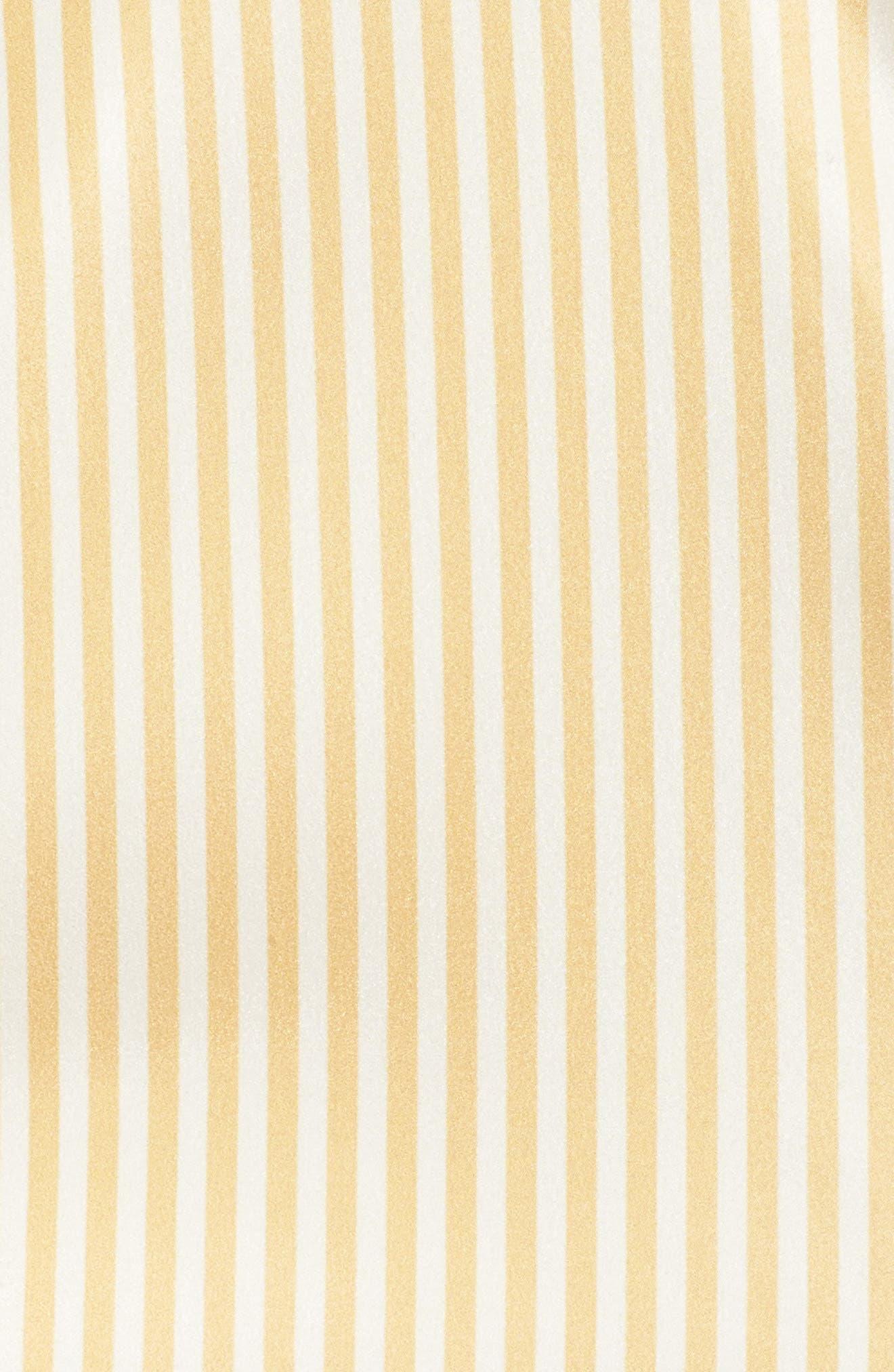 Believe in Me Halter Neck Party Dress,                             Alternate thumbnail 6, color,                             Honey Stripe