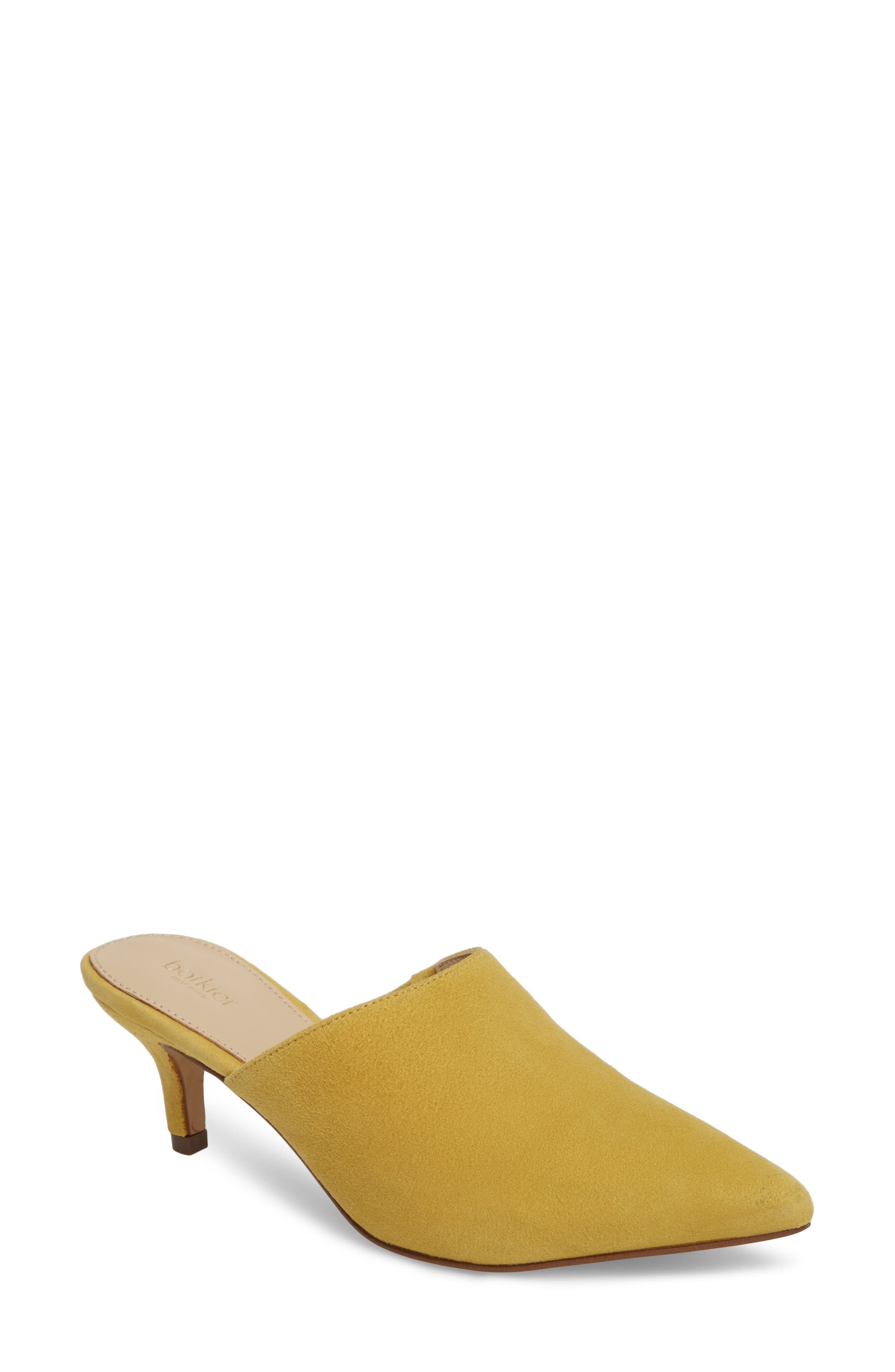 Paley Mule,                             Main thumbnail 1, color,                             Pineapple Suede