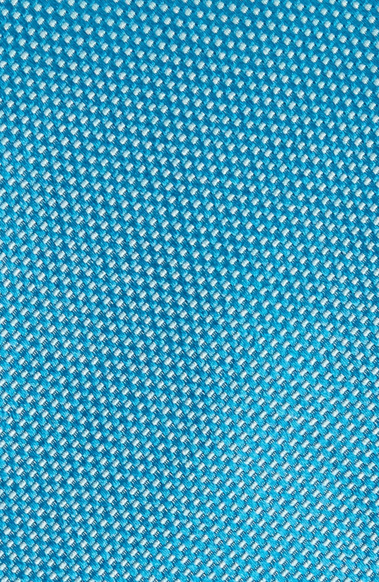 Solid Silk Tie,                             Alternate thumbnail 2, color,                             Scuba Blue