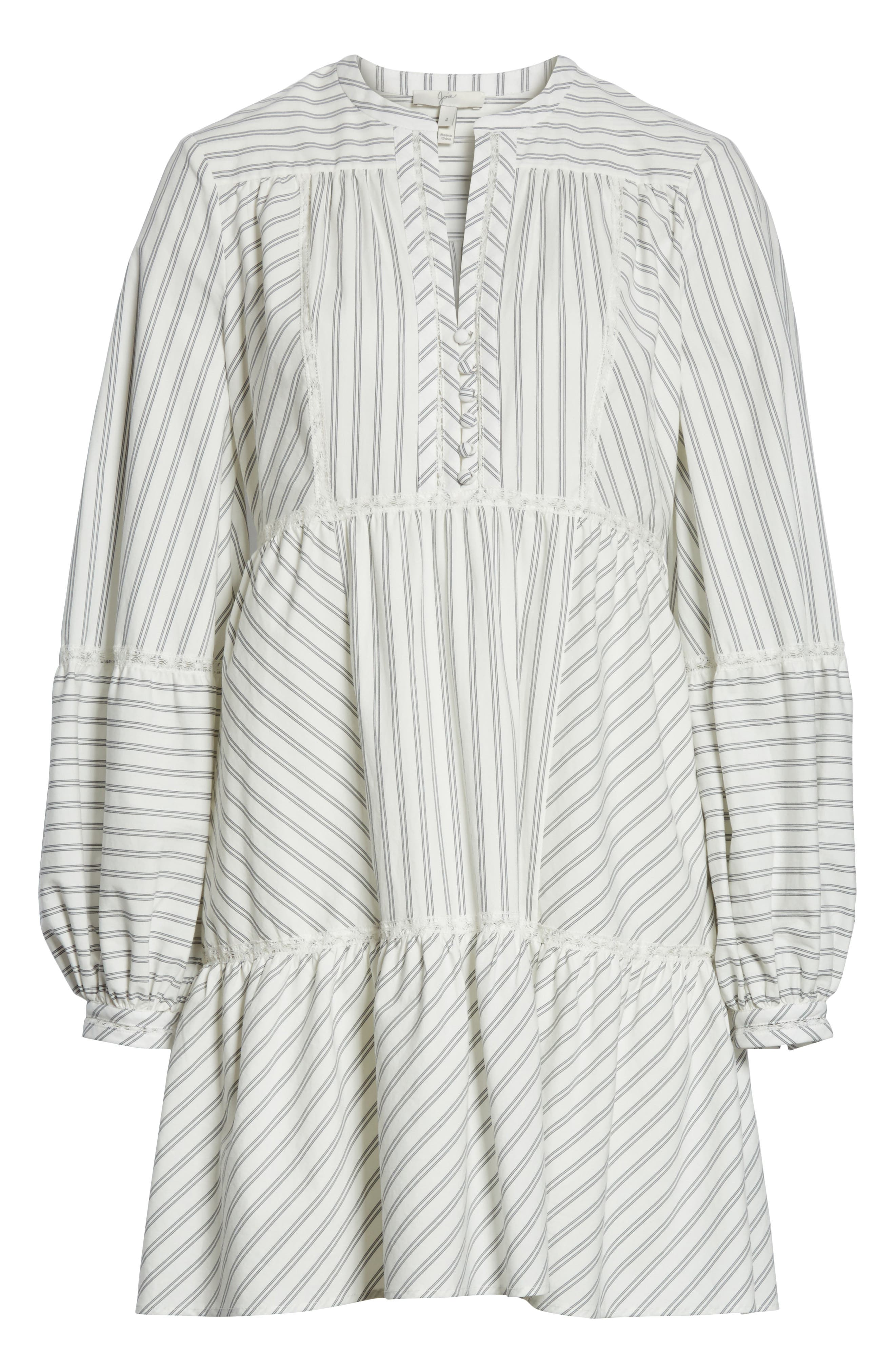 Marison Stripe A-Line Dress,                             Alternate thumbnail 6, color,                             Porcelain